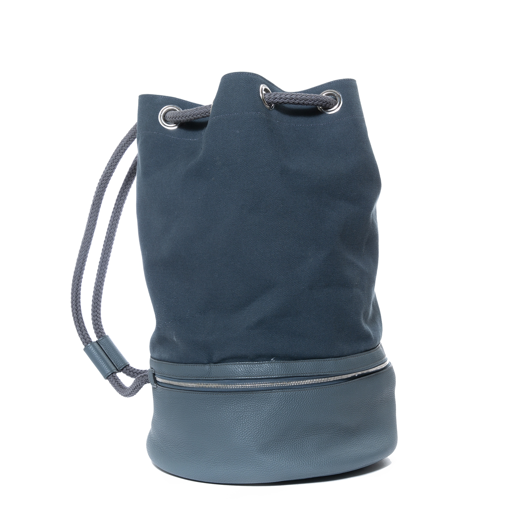 We buy and sell your authentic Hermès Blue Marin Drawstring Bucket Bag