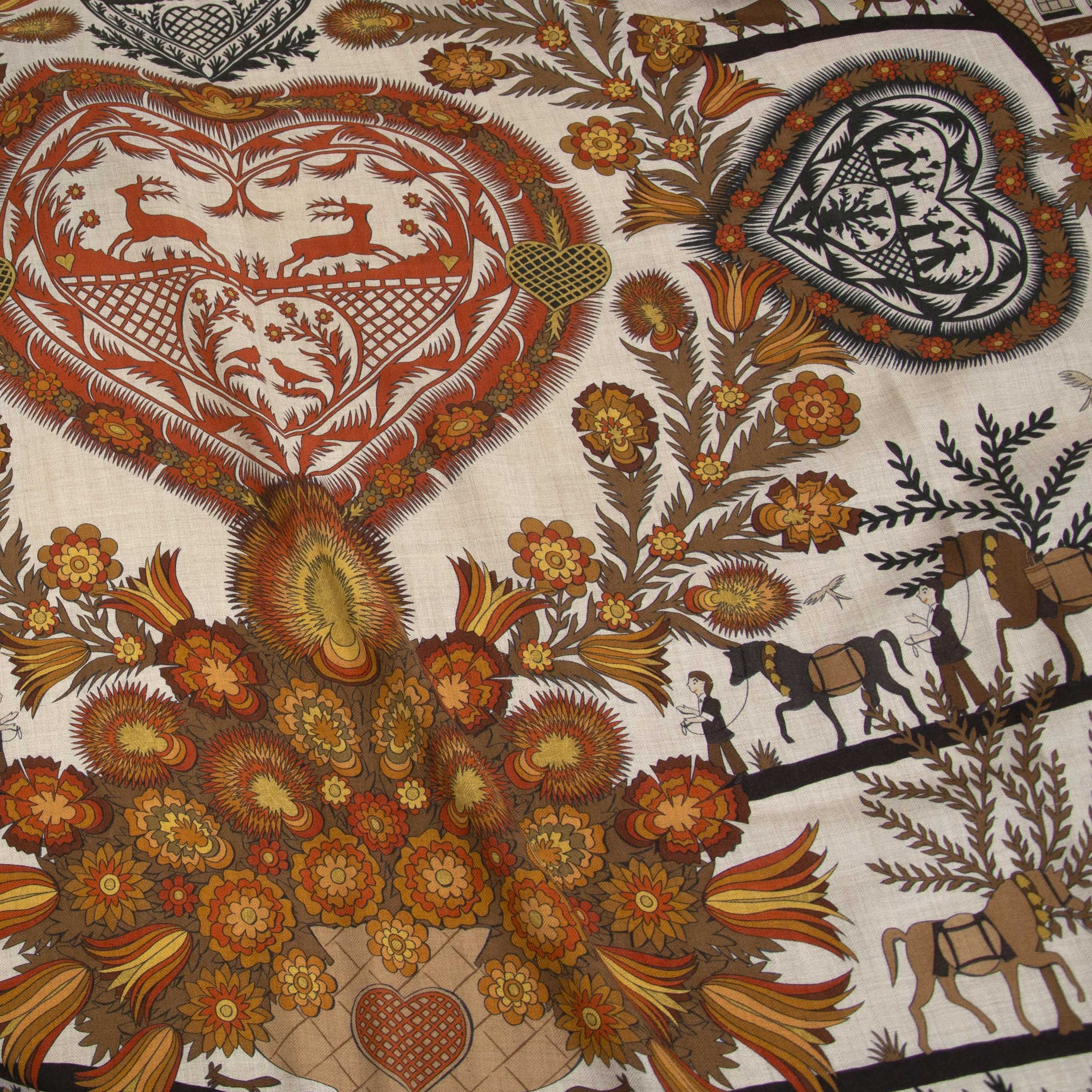 Looking for a Hermes Brown Large Carré Scarf ? now online at labellov.com for the best price