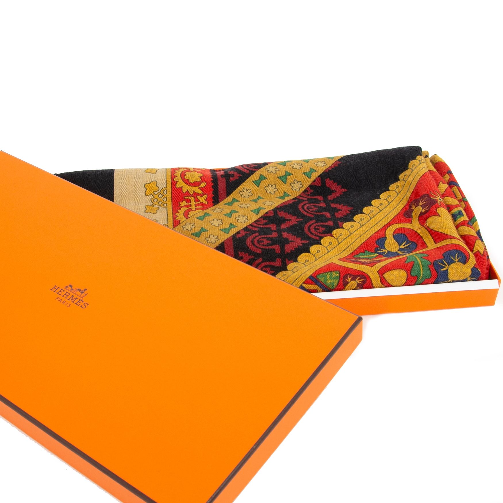 Hermès J. Abadie Brin d'Or Cashmere and Silk Shawl