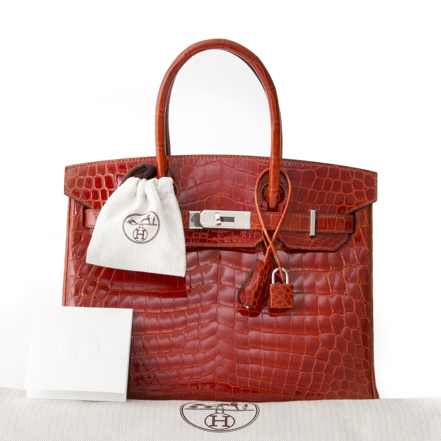 acheter en linge seconde main sac a main Brand New Hermès Birkin 30 Sanguine Crocodile Niloticus Lisse comme neuf site en linge labellov.com