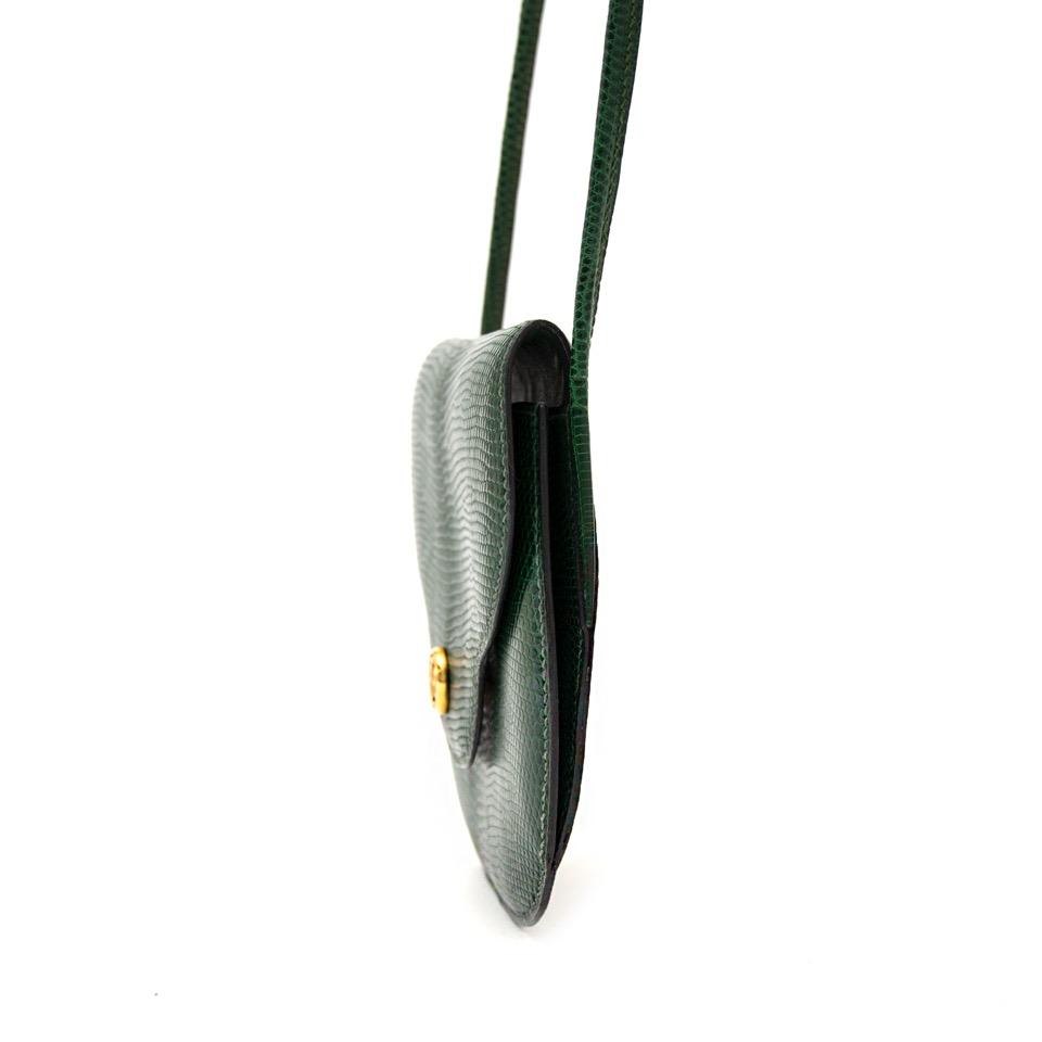 shop safe online at the best price hermes green lizard shoulder bag like new webshop www.labellov.com