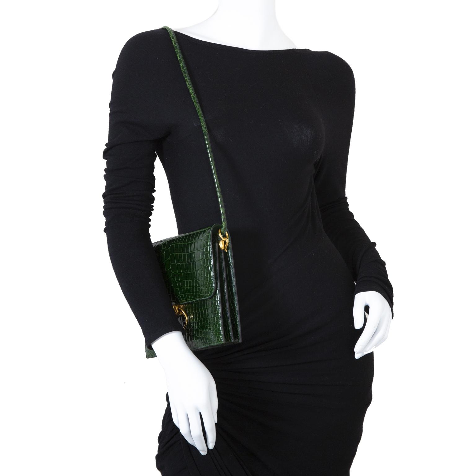 Hermès Green Croco Séquana Bag