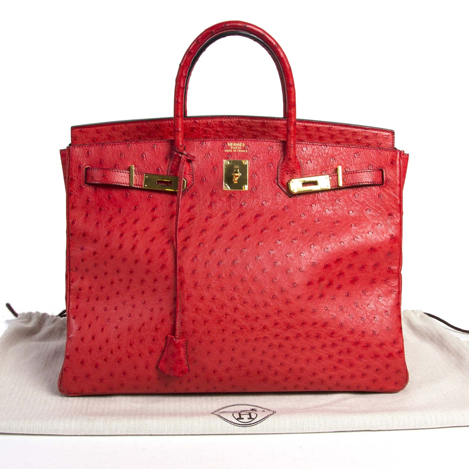 skip the waitinglist and get your Hermes Birkin 40 Ostrich Bougainvillea right now