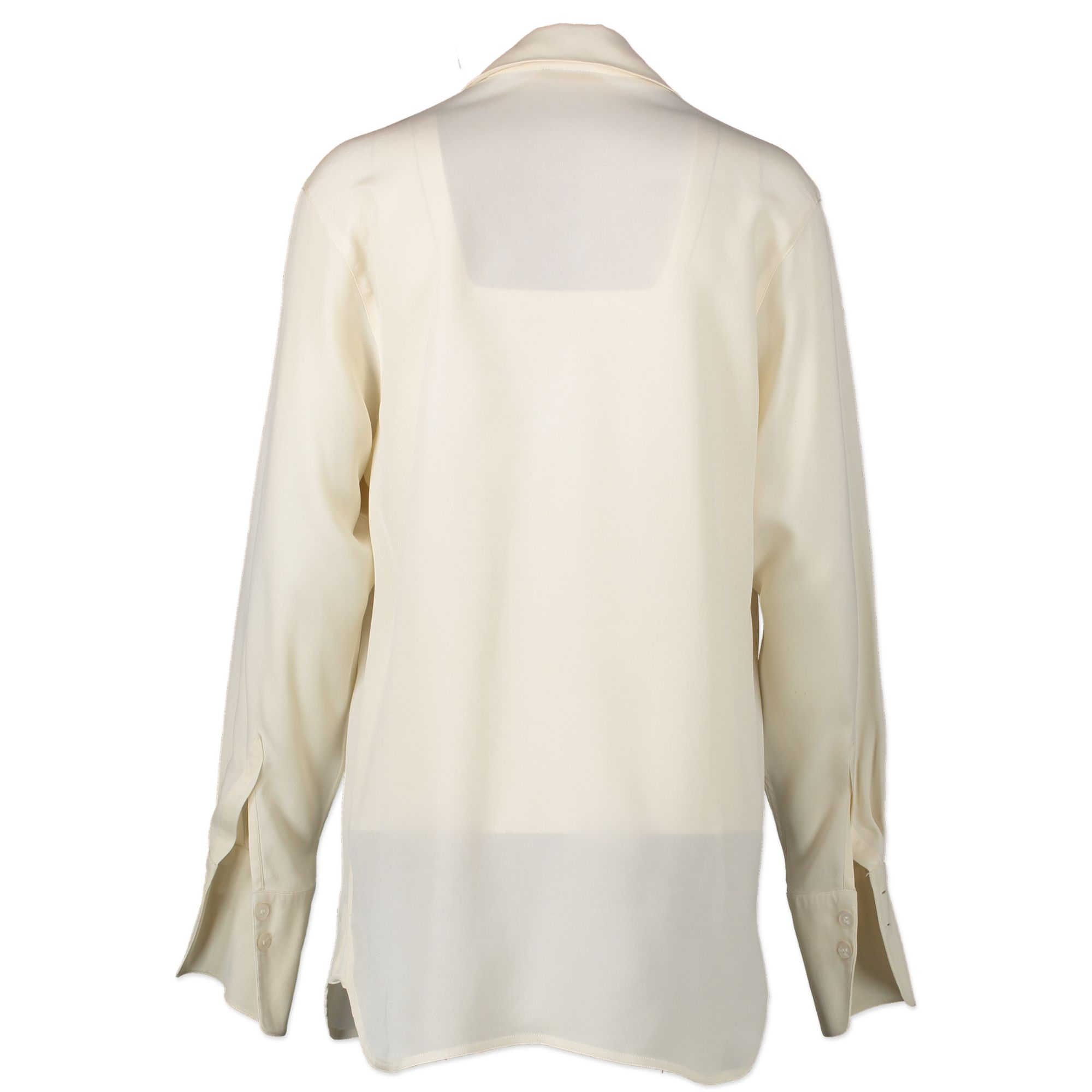 We buy and sell your authentic designer Hermes Creme Blouse - size 40