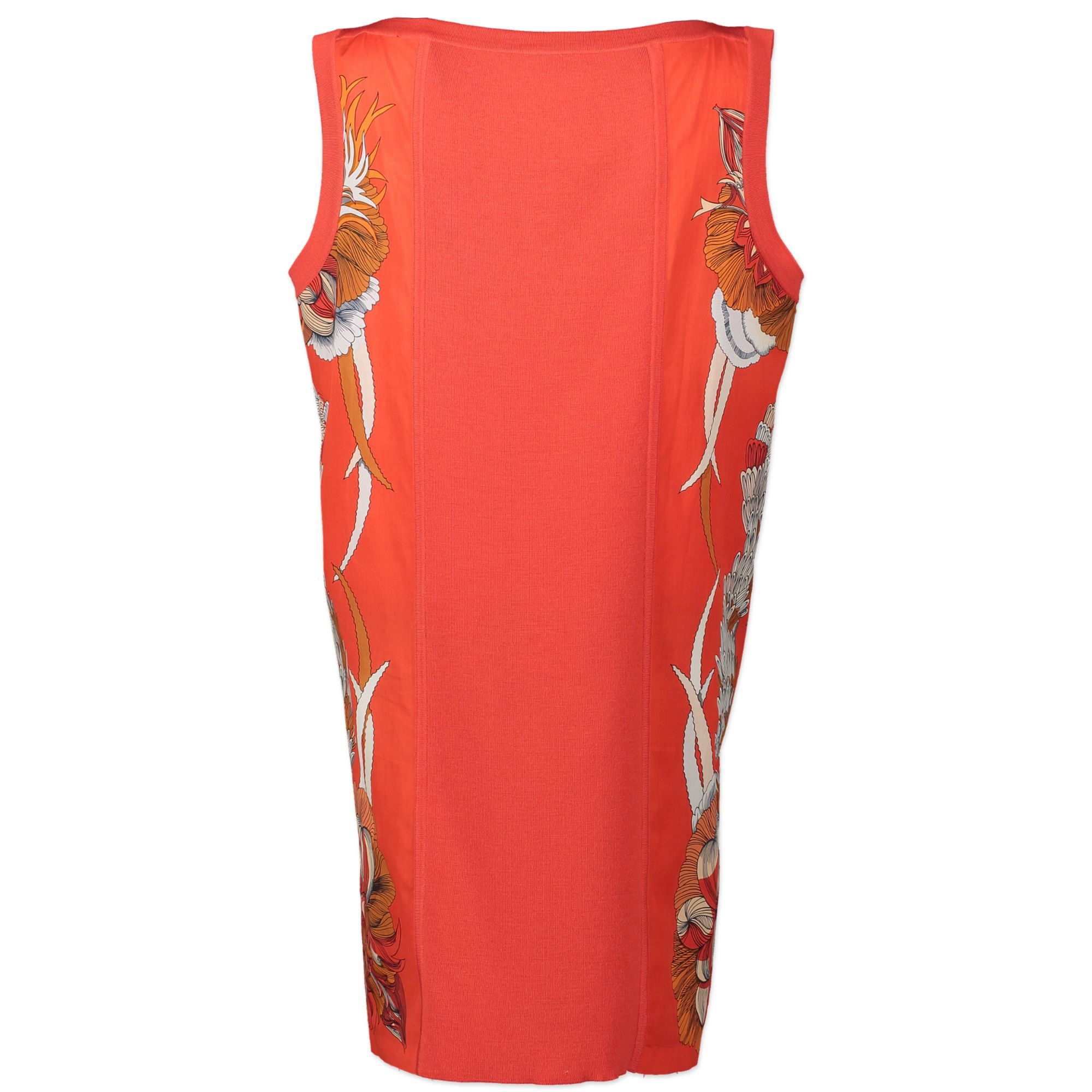Hermès Red Printed Dress - Size 42