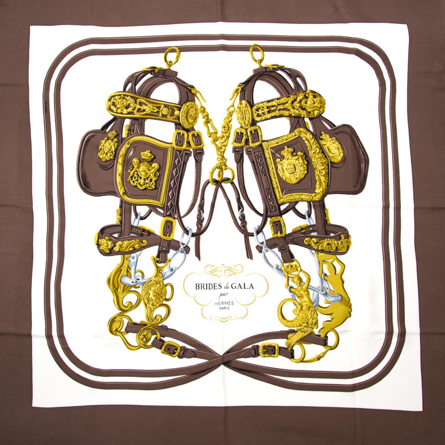 Koop veilig online bij labellov.com Hermès Carré de Soie Brides de Gala nu online tegen de beste prijs