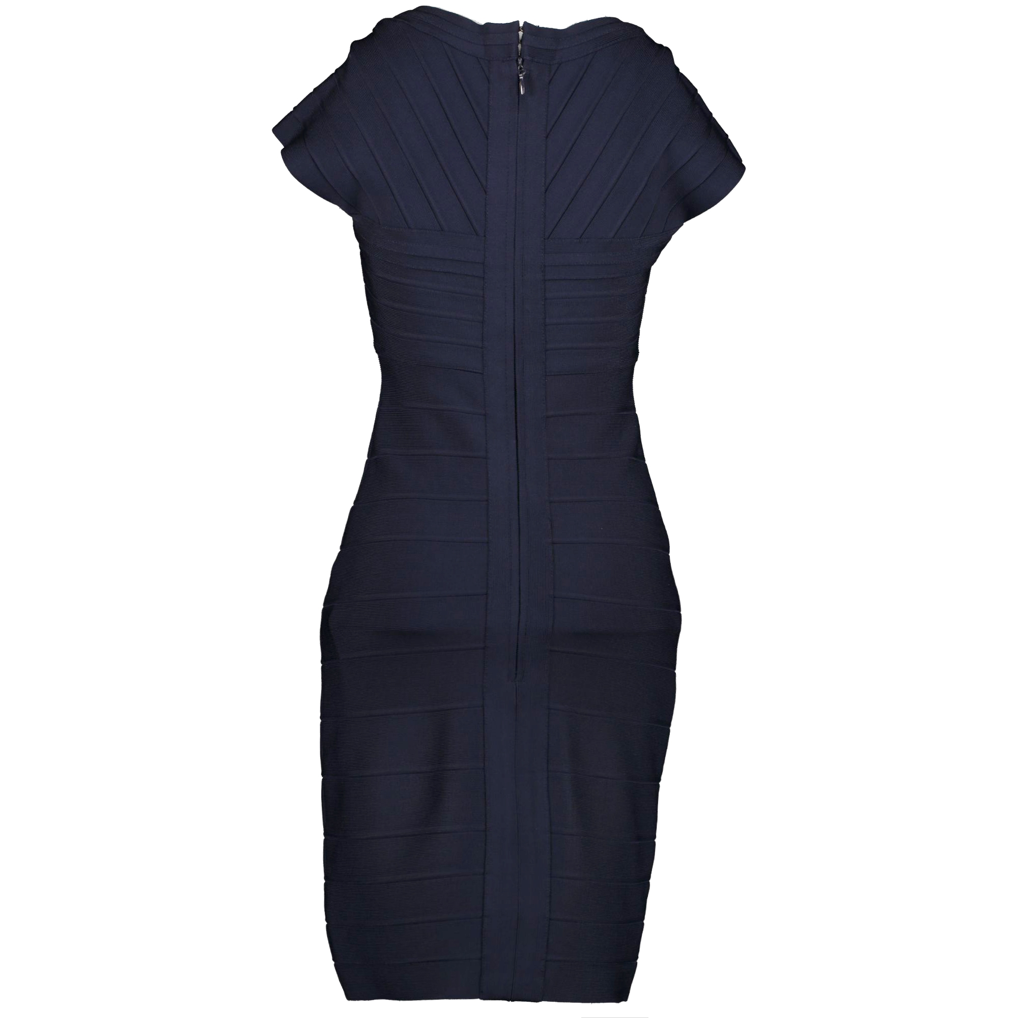 Hervé Leger Dark Blue Bandage Dress - Size M