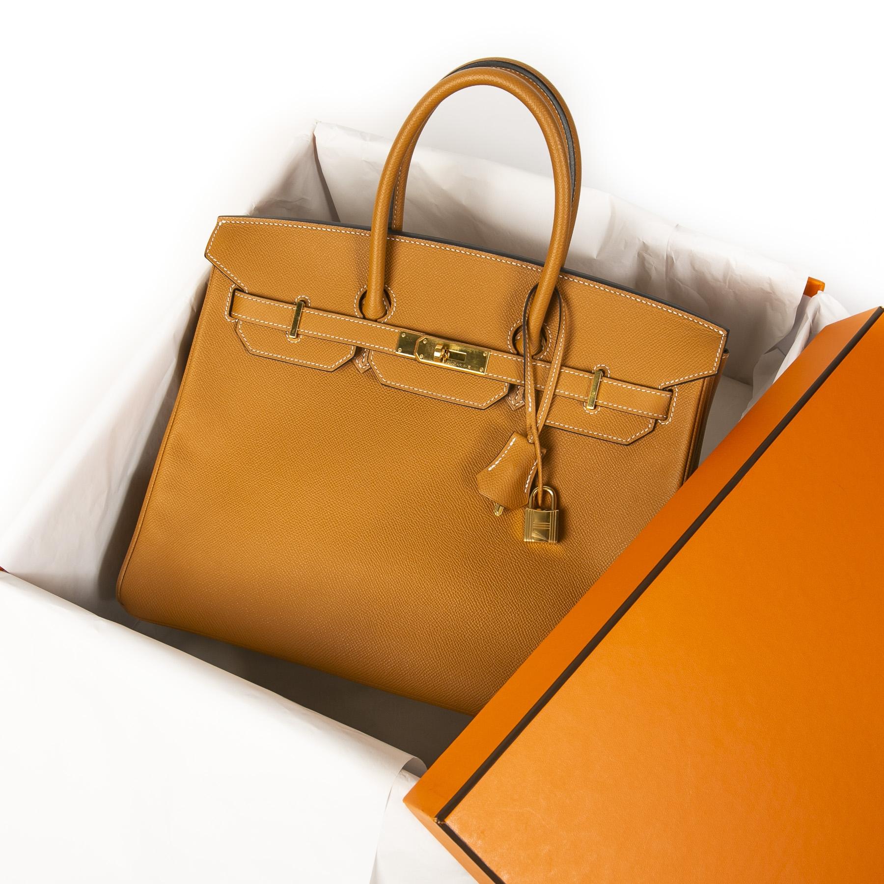 Hermès Birkin 35 Gold Epsom GHW kopen en verkopen aan de beste prijs