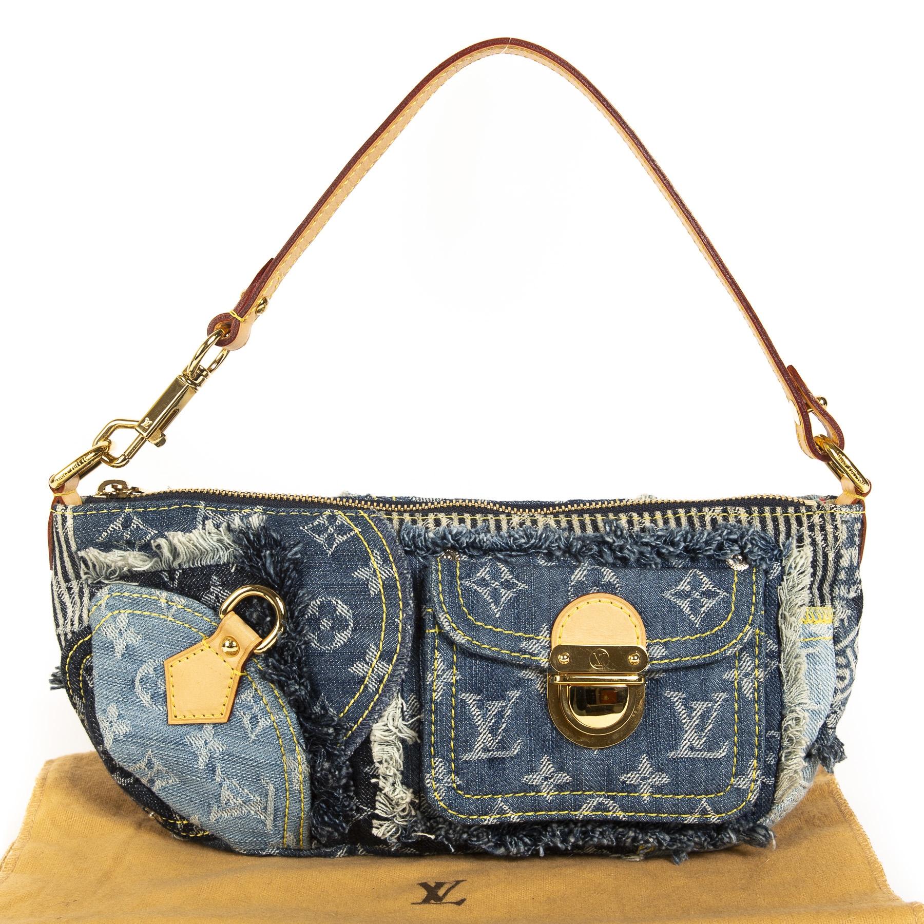 Louis Vuitton Limited Edition Monogram Denim Patchwork Bag