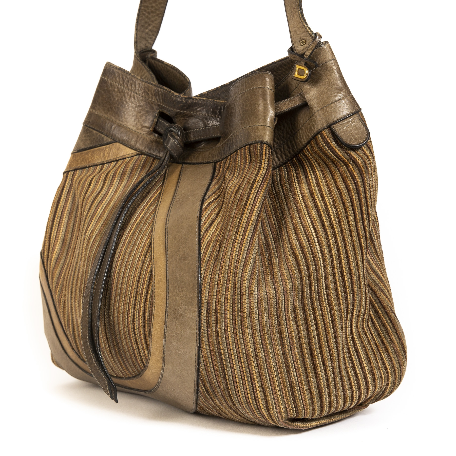 shop safe online Delvaux Desert Brown Shoulder Bag