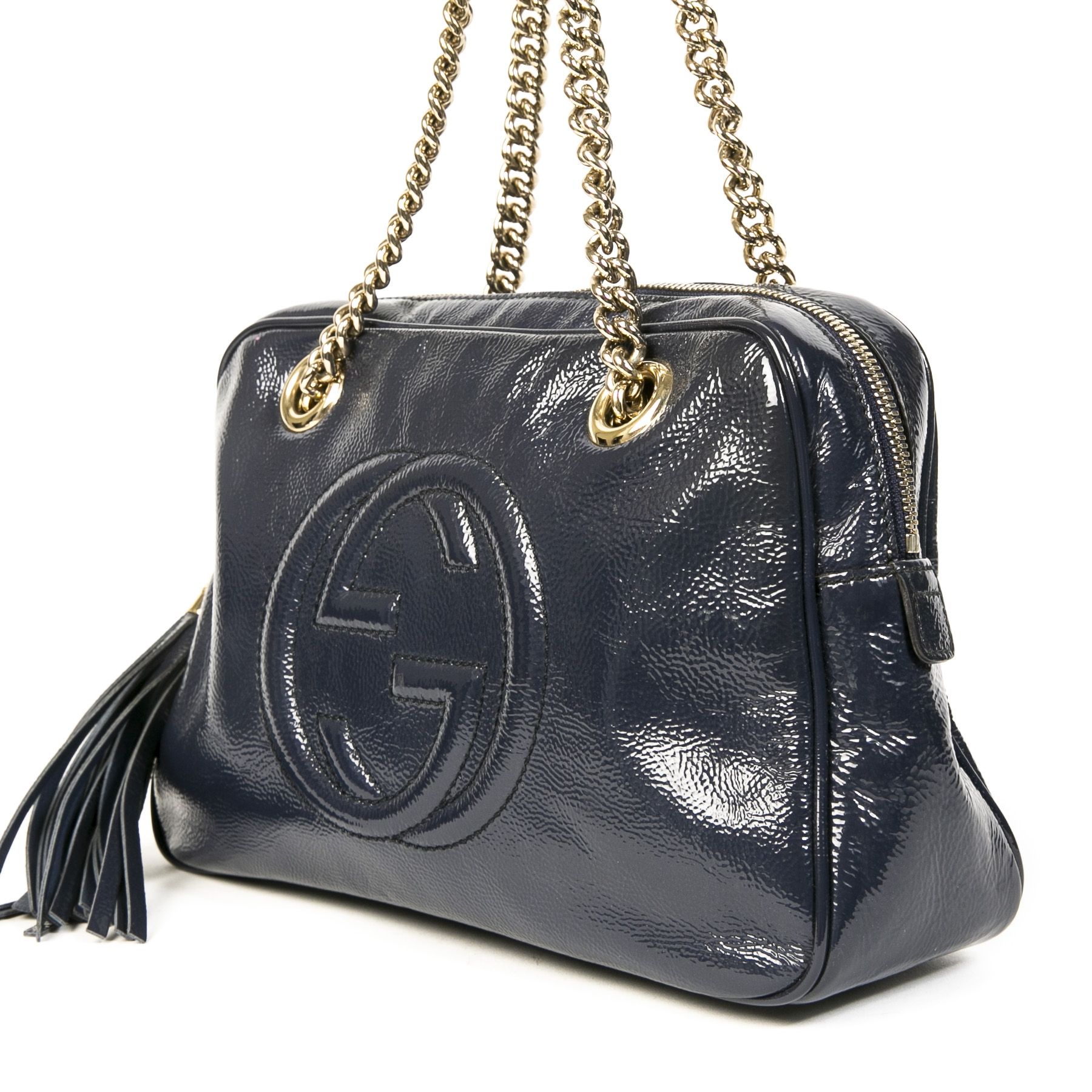 Gucci Small Soho Patent Leather Bag