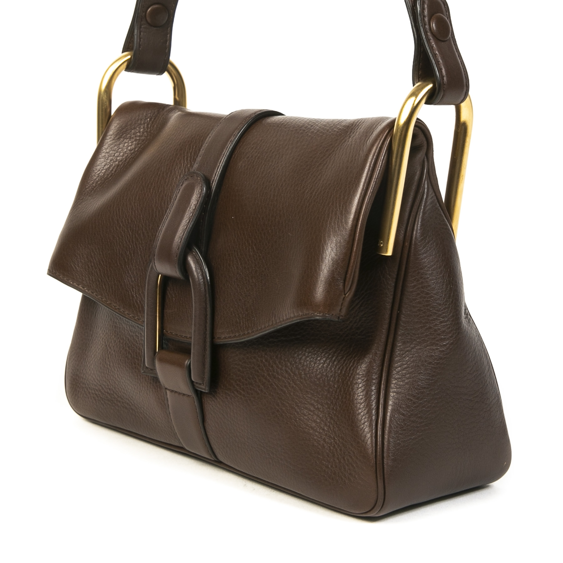 Delvaux Chestnut Brown Polo Givry Shoulder Bag for sale online at Labellov secondhand luxury
