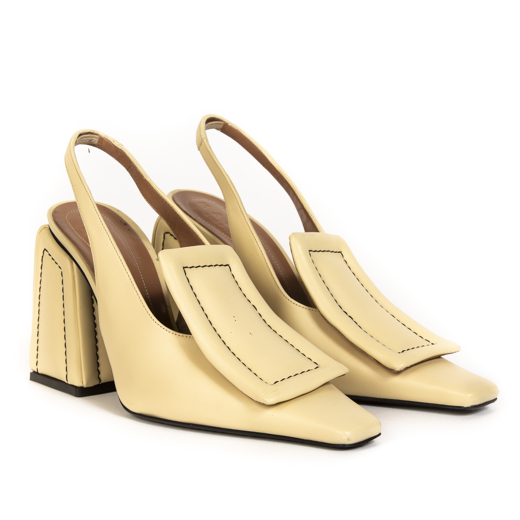 Marni Sling Back Shoe Light Yellow - Size 40