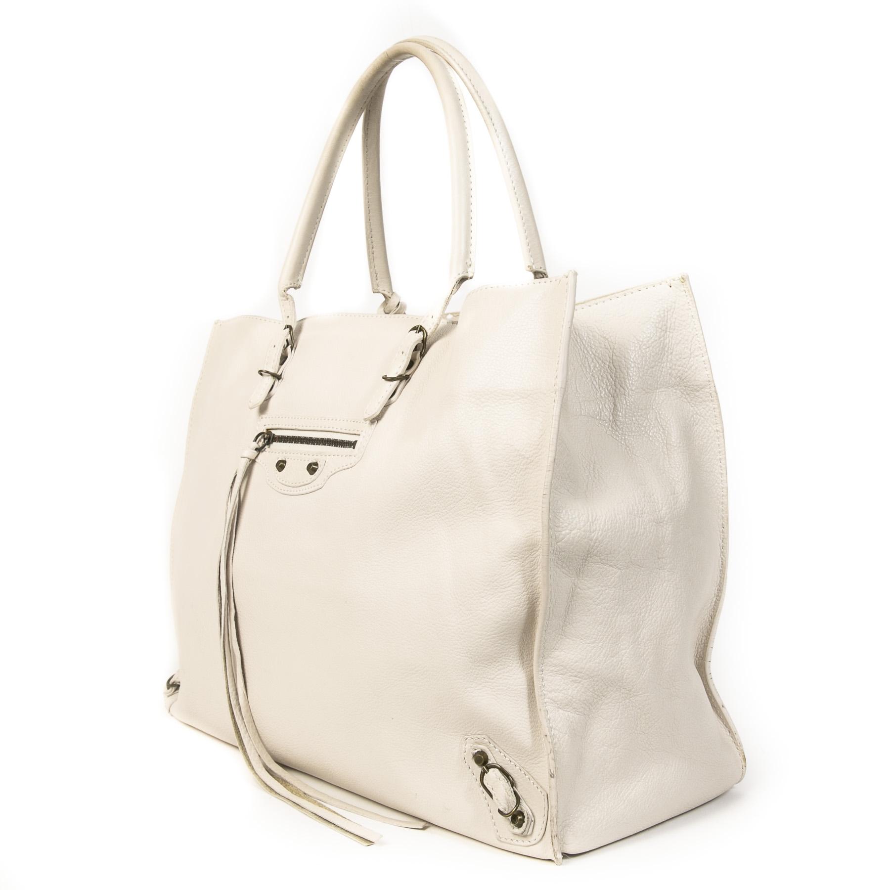 Authentic second-hand vintage Balenciaga Papier A4 Tote Bag buy online webshop LabelLOV