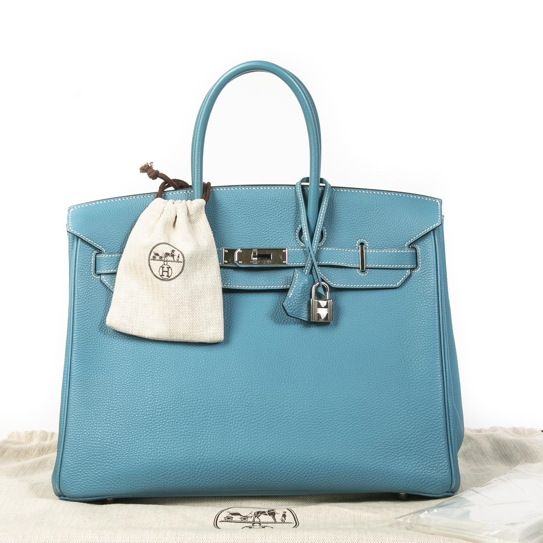 Hermès Birkin 35 Bleu Jean PHW kopen en verkopen aan de beste prijs bij Labellov