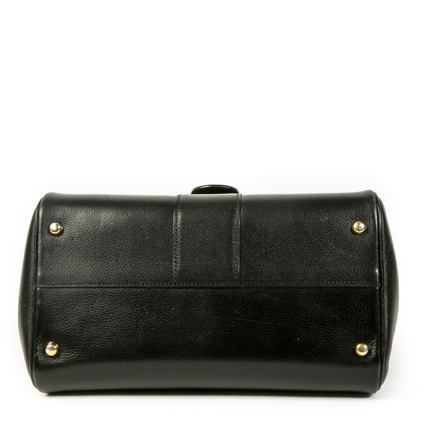 Authentic second-hand vintage Delvaux Black Brillant PM Bag at online webshop LabelLOV