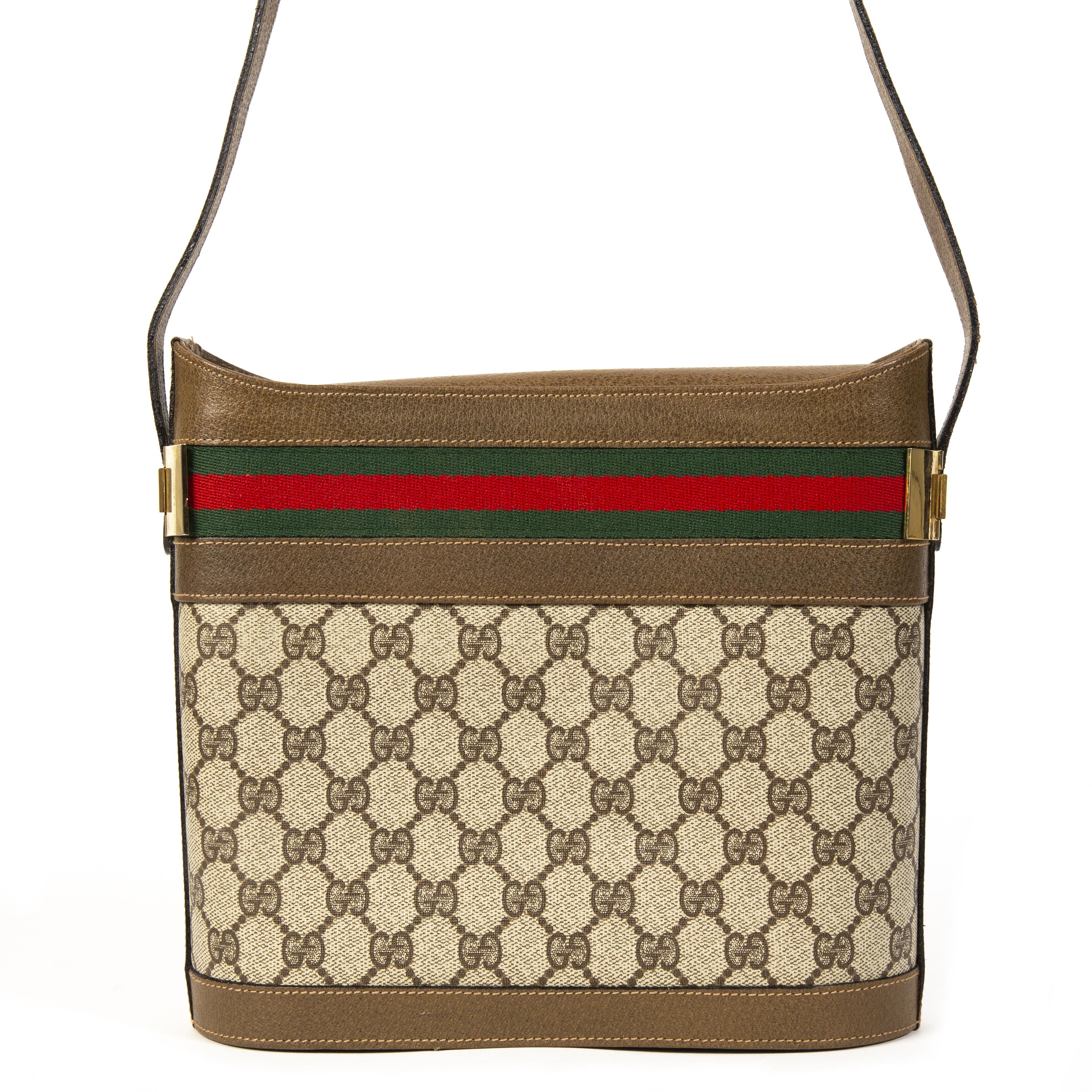 Gucci Vintage Web Monogram Shoulder Bag