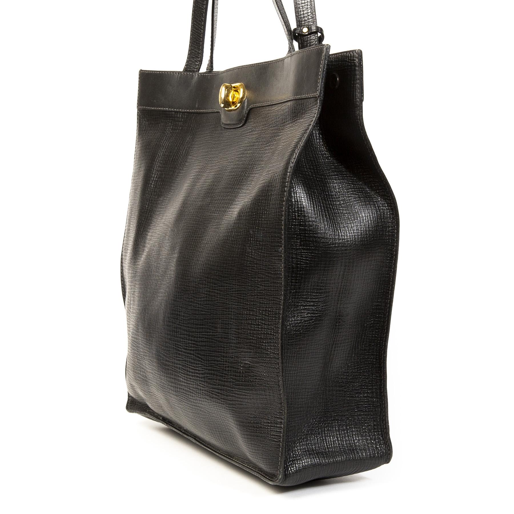 Delvaux Black Tote Bag kopen en verkopen aan de beste prijzen van Belgie