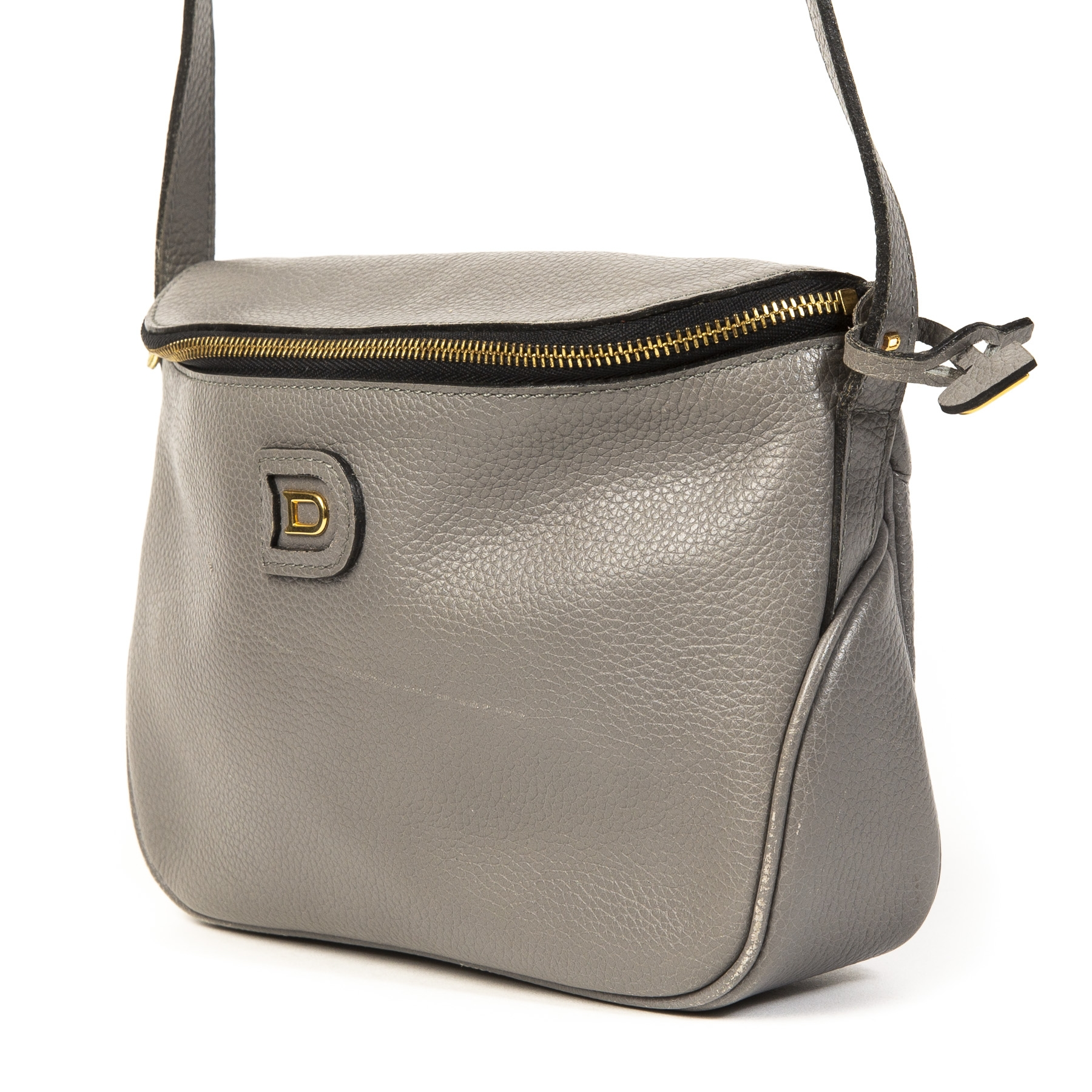 Delvaux Macao Grey Leather Crossbody Bag