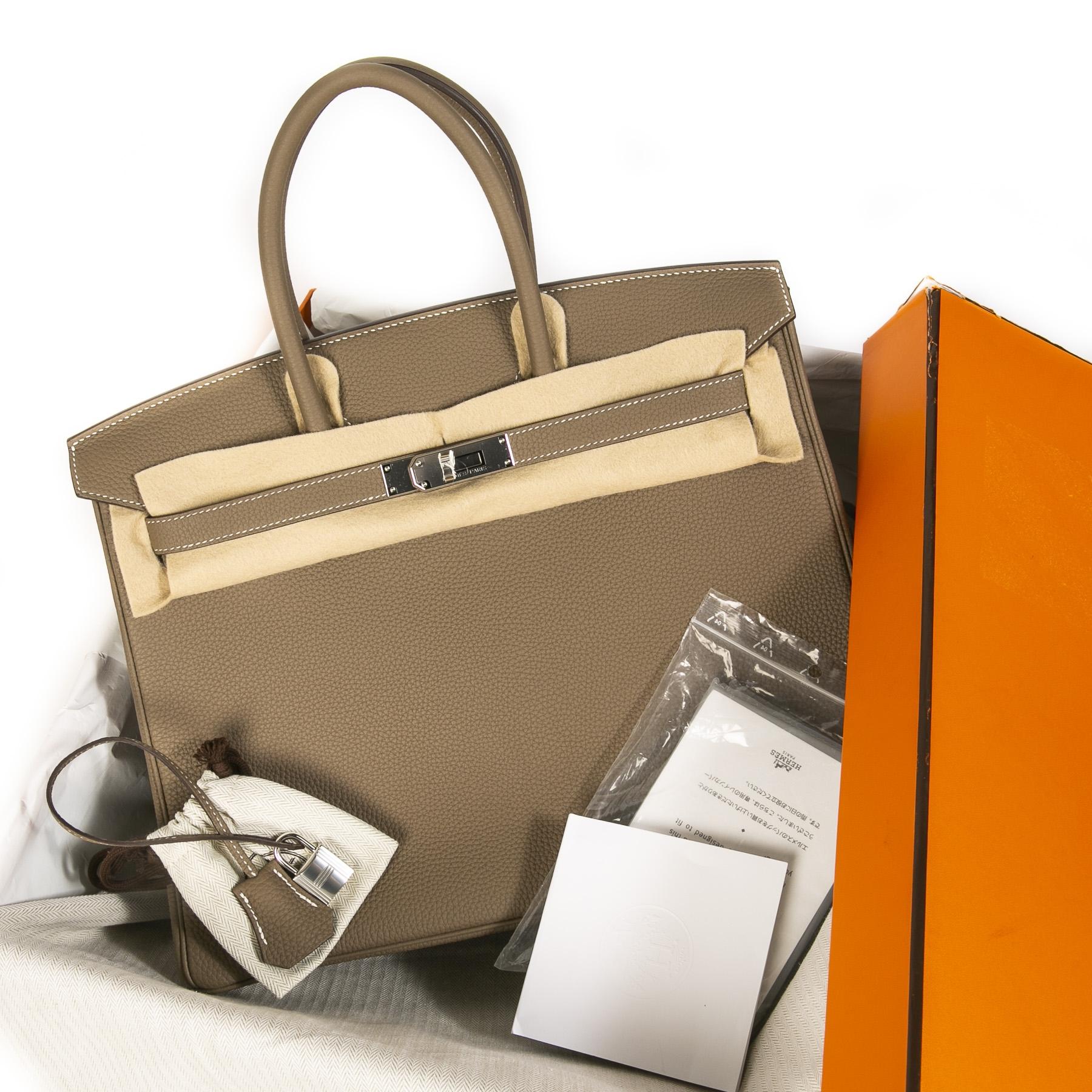 Hermès Birkin 35 Etoupe Togo PHW
