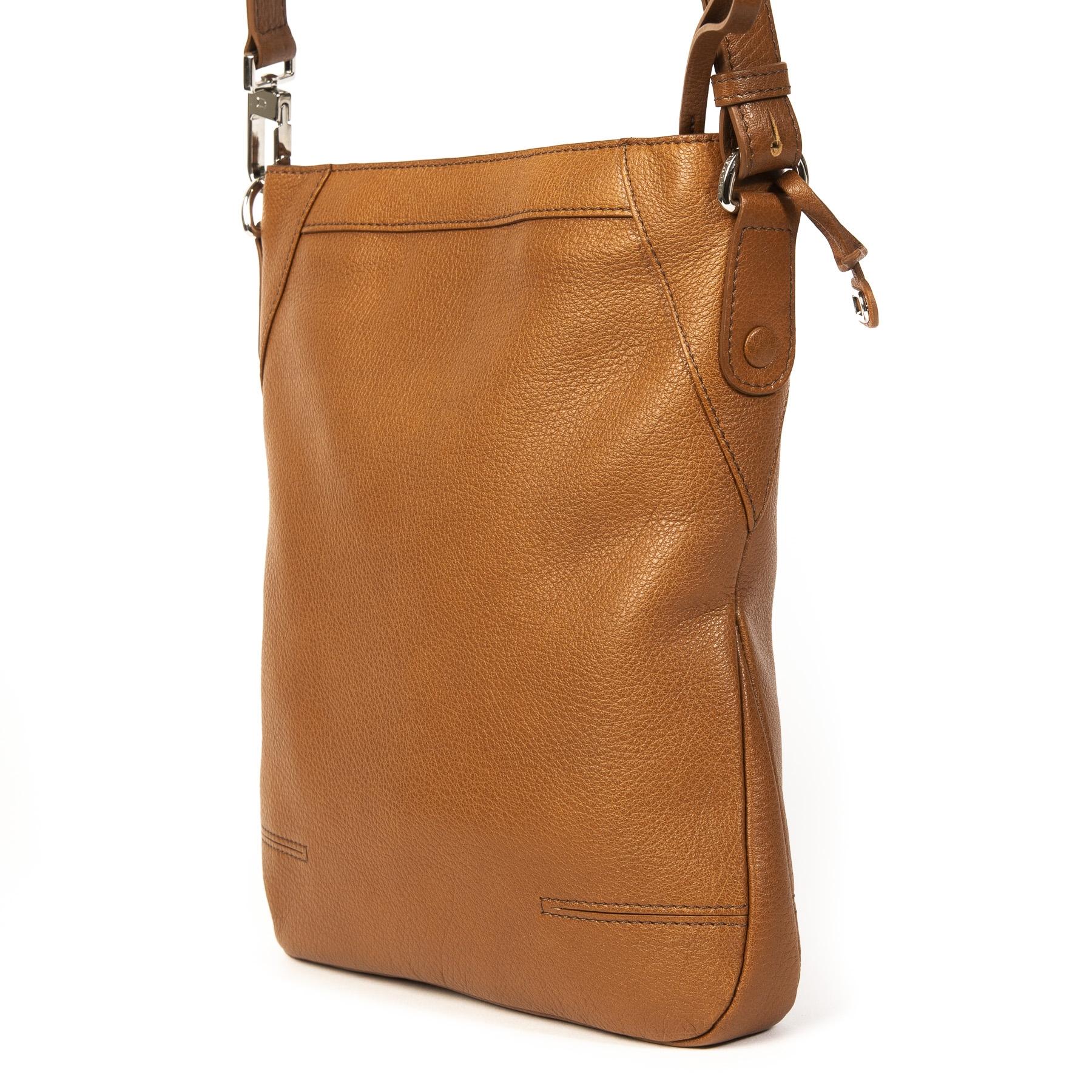 Delvaux Camel Lundi Crossbody Bag