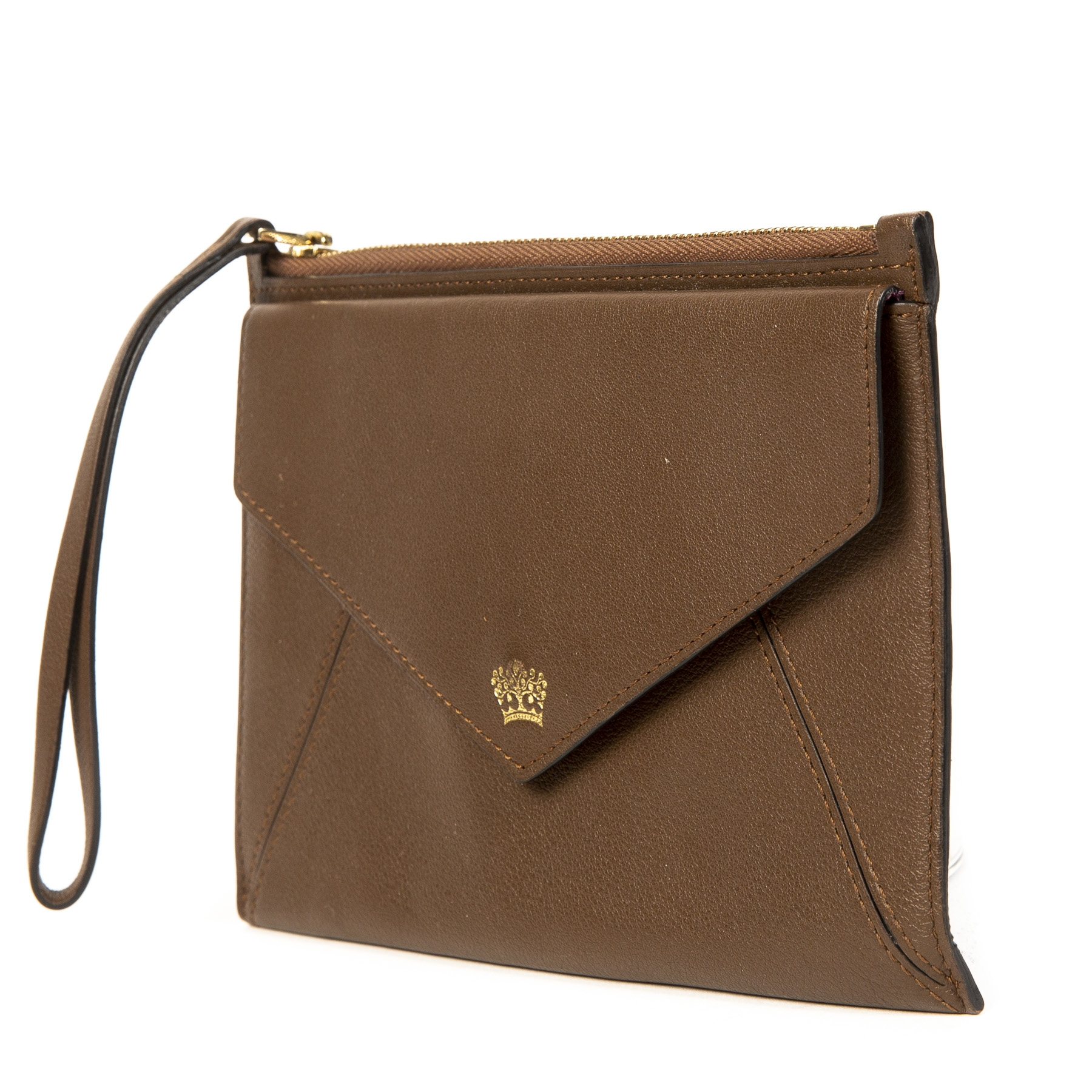 We buy and sell your authentic Delvaux Brown Pouch