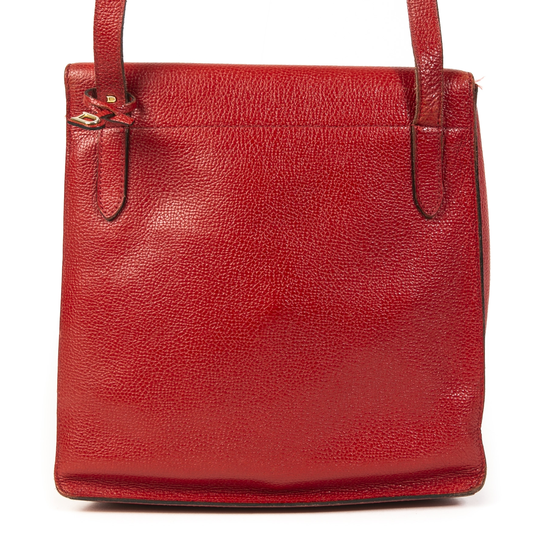 Authentic second-hand vintage Delvaux Rubis Red Crossbody Bag buy online webshop LabelLOV