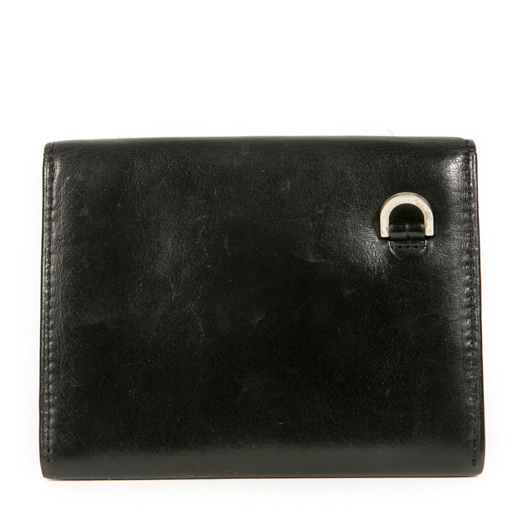 Authentieke Tweedehands Delvaux Black Wallet juiste prijs veilig online shoppen luxe merken webshop winkelen Antwerpen België mode fashion