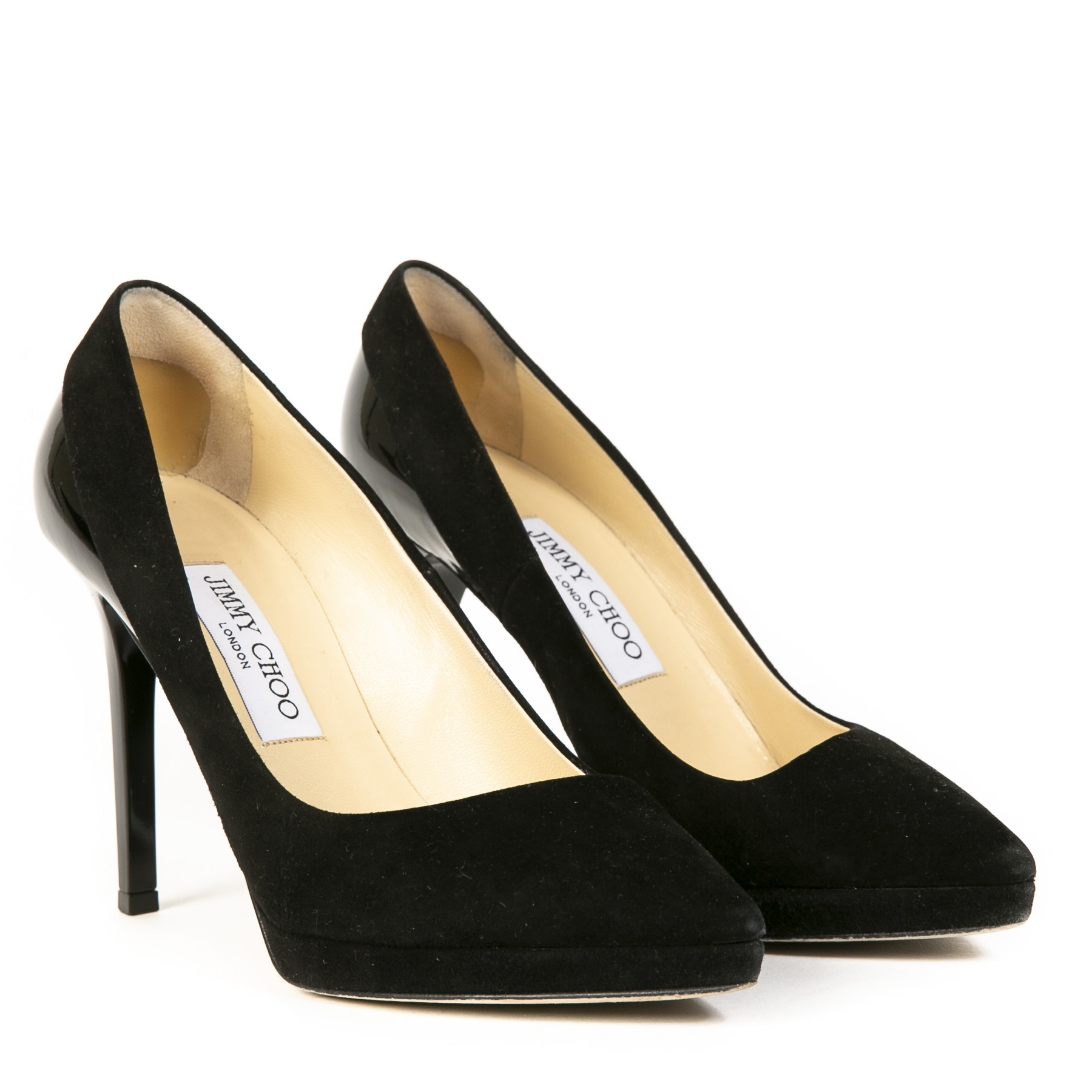 Jimmy Choo Black Suede Pumps - Size 36,5