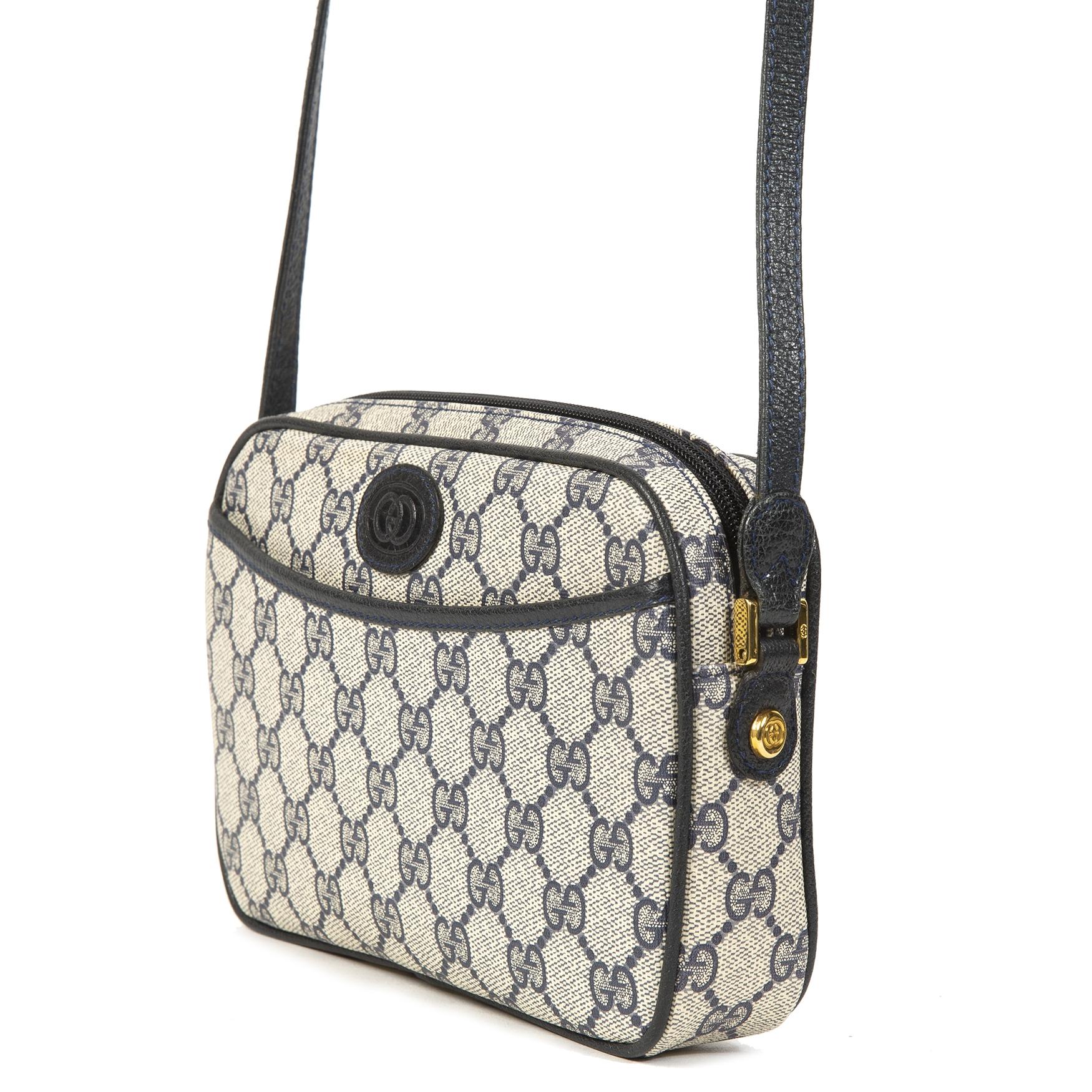Gucci Blue Monogram Crossbody Bag