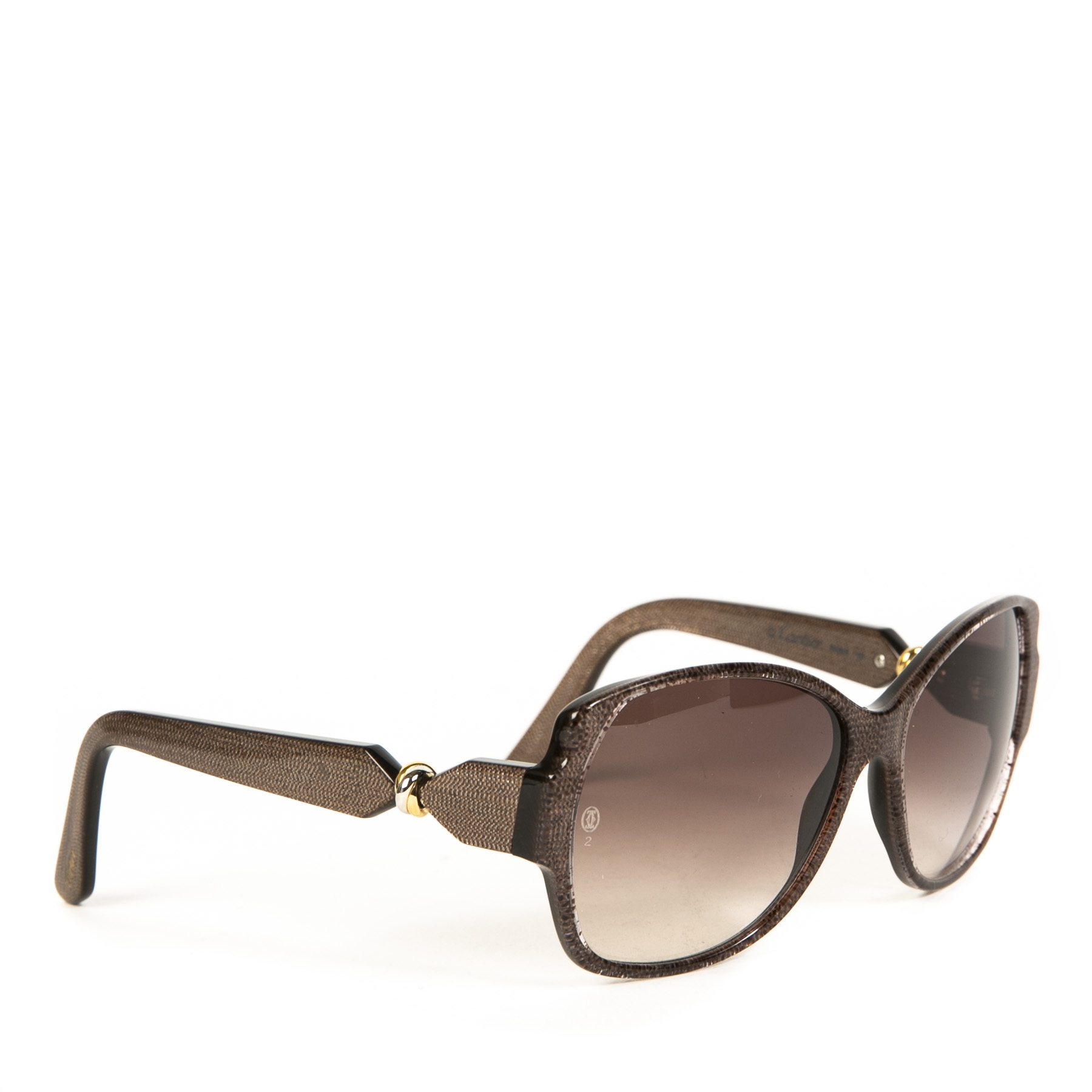 Cartier Brown Gold Detail Sunglasses