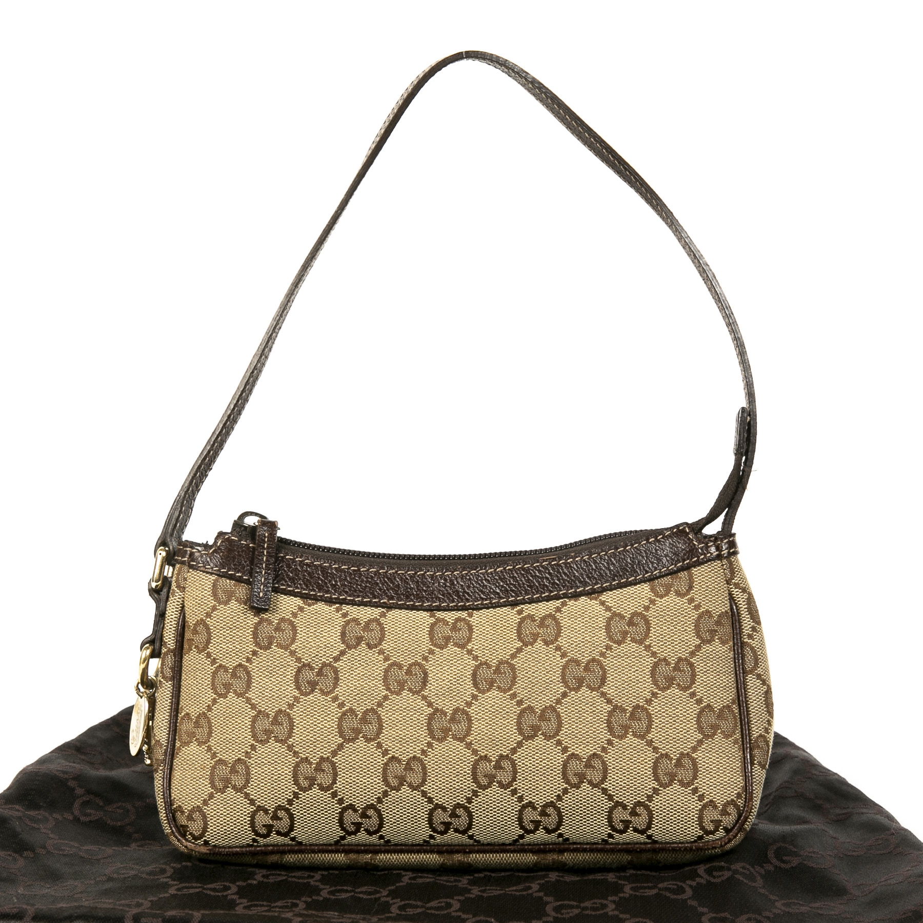 Gucci Monogram Charm Pochette Bag