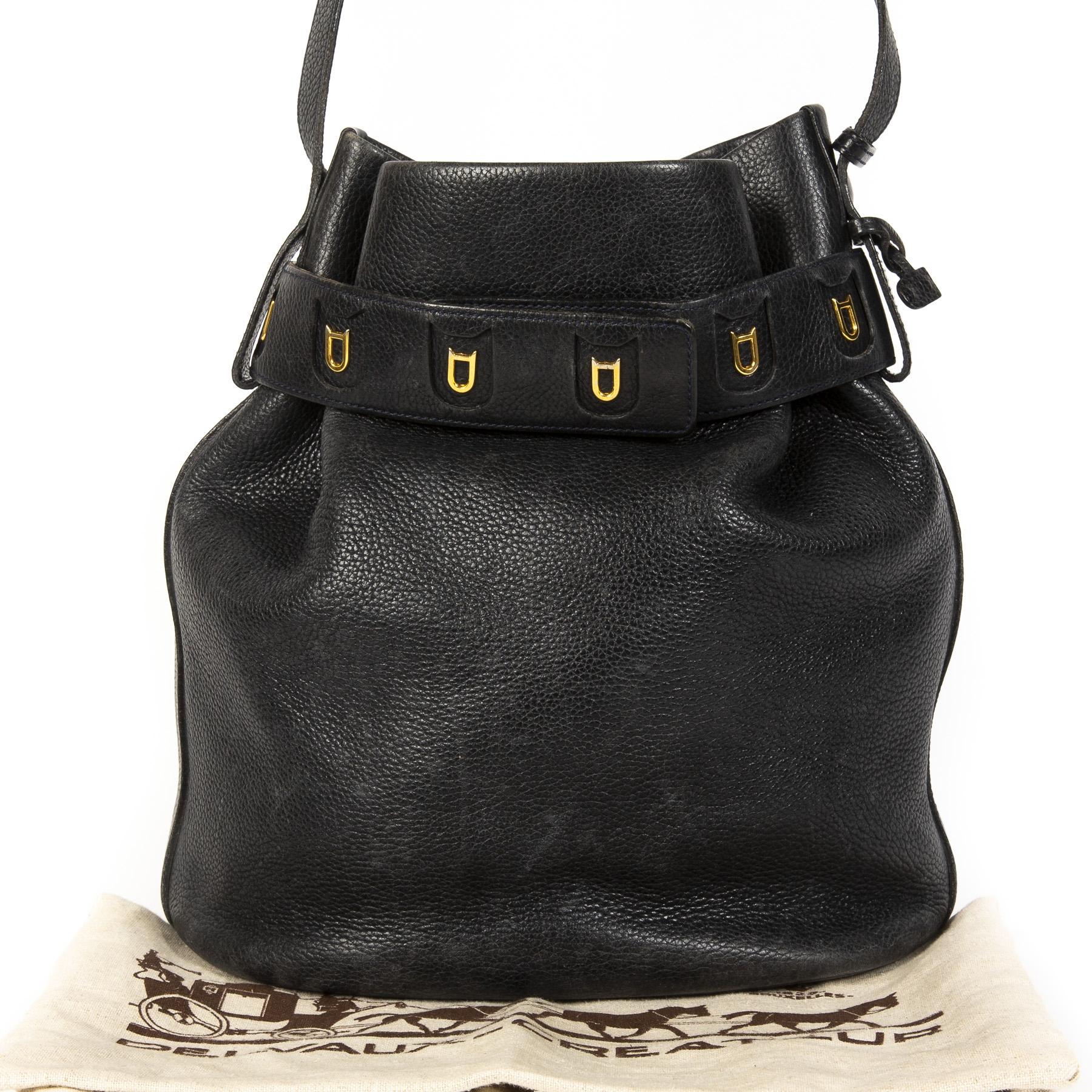 acheter Delvaux Calicot Bucket Bag Navy Blue  enligne pour le meilleur prix