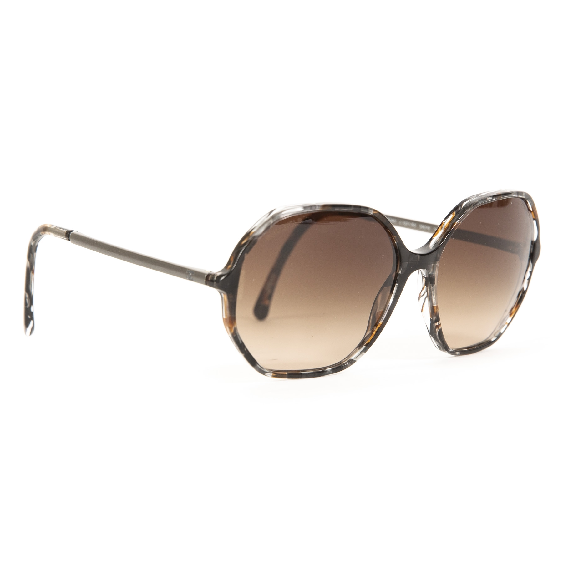 Authentic second-hand vintage Chanel Tortoise Havana Brown Sunglasses buy online webshop LabelLOV