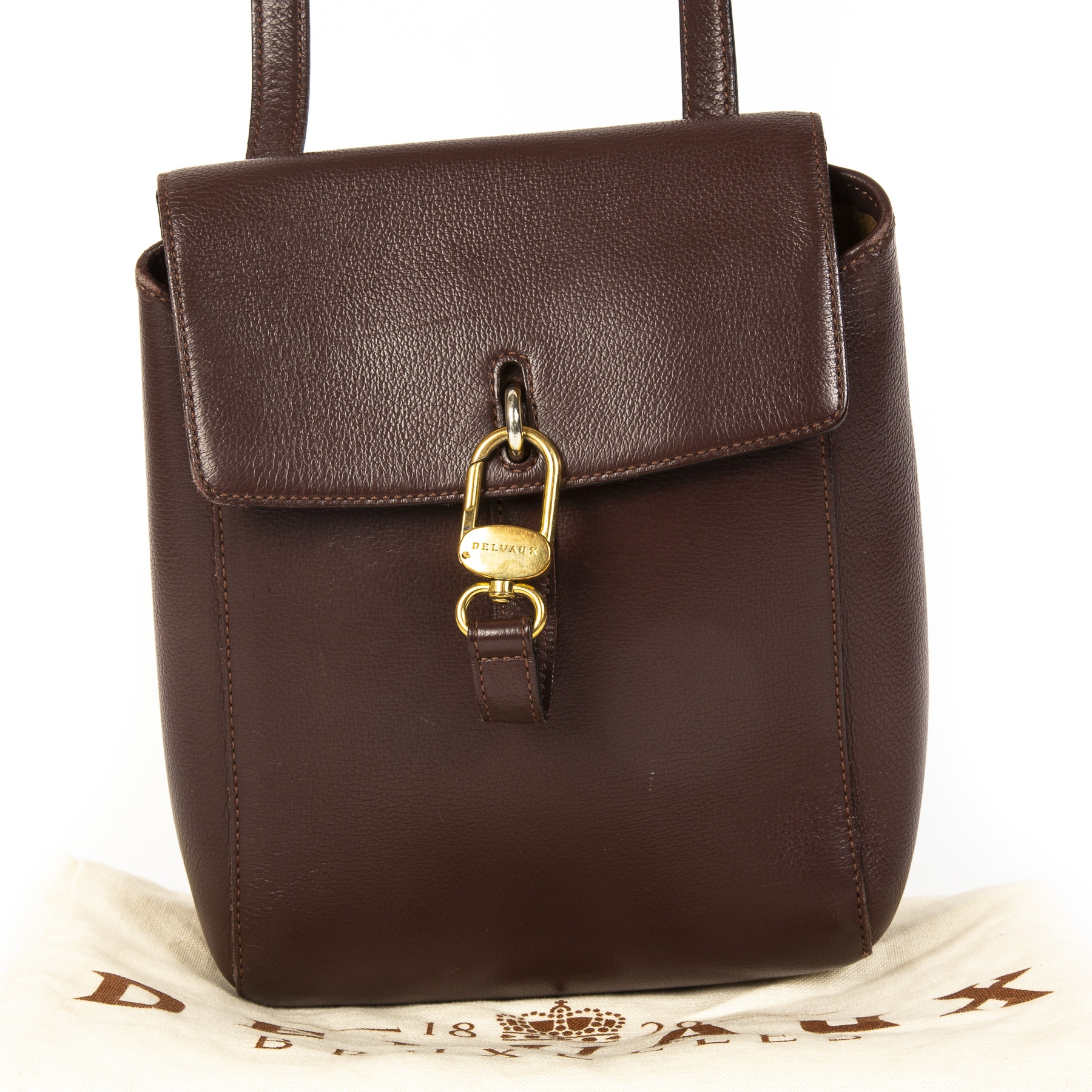 Delvaux Rubis Brown Cross Body shop safe online