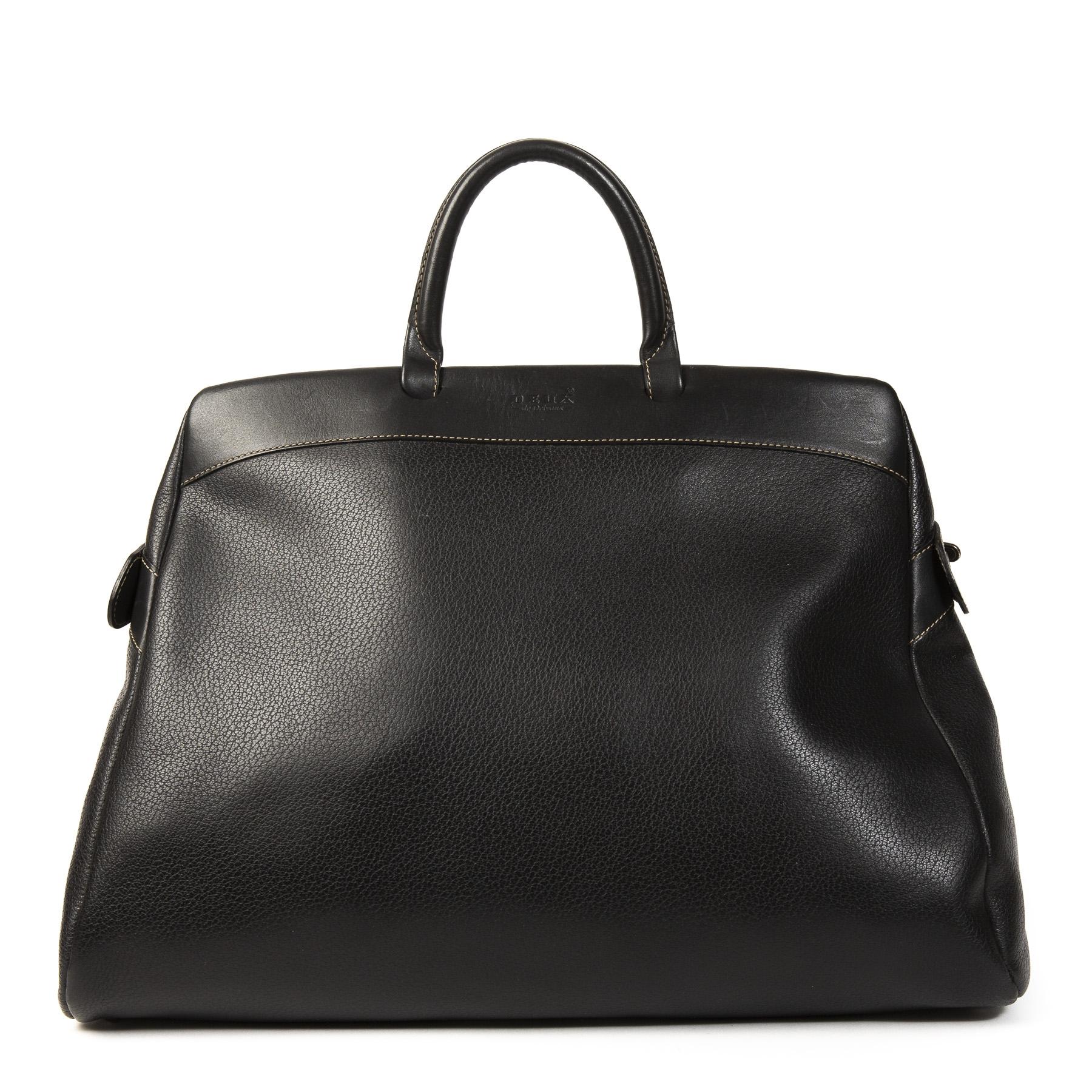 Authentieke Tweedehands Delvaux Deux De Delvaux Black Bag juiste prijs veilig online shoppen webshop luxe merken winkelen Antwerpen België