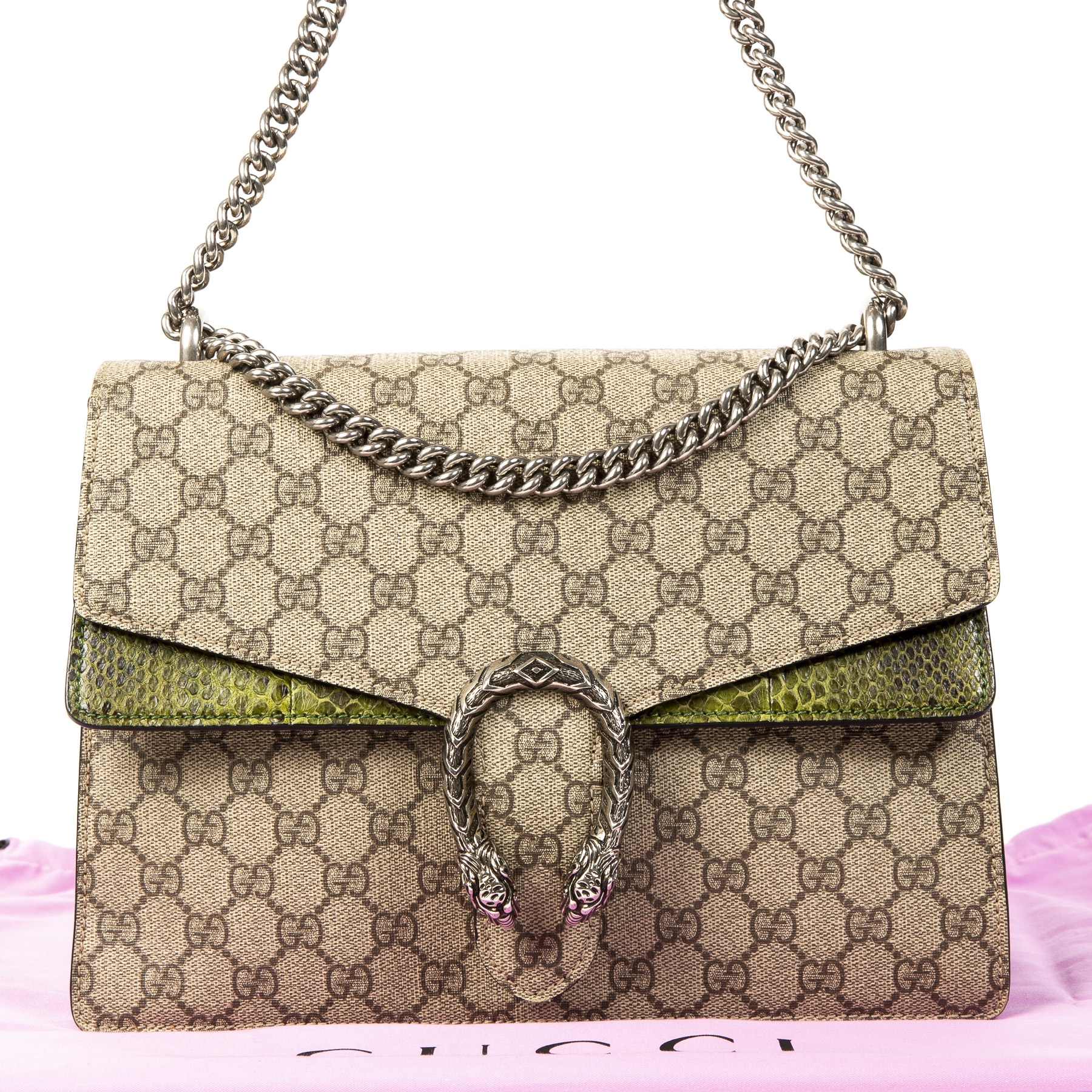 114be44ba ... We buy and sell your authentic Gucci GG Supreme Monogram Python  Dionysus for the best price