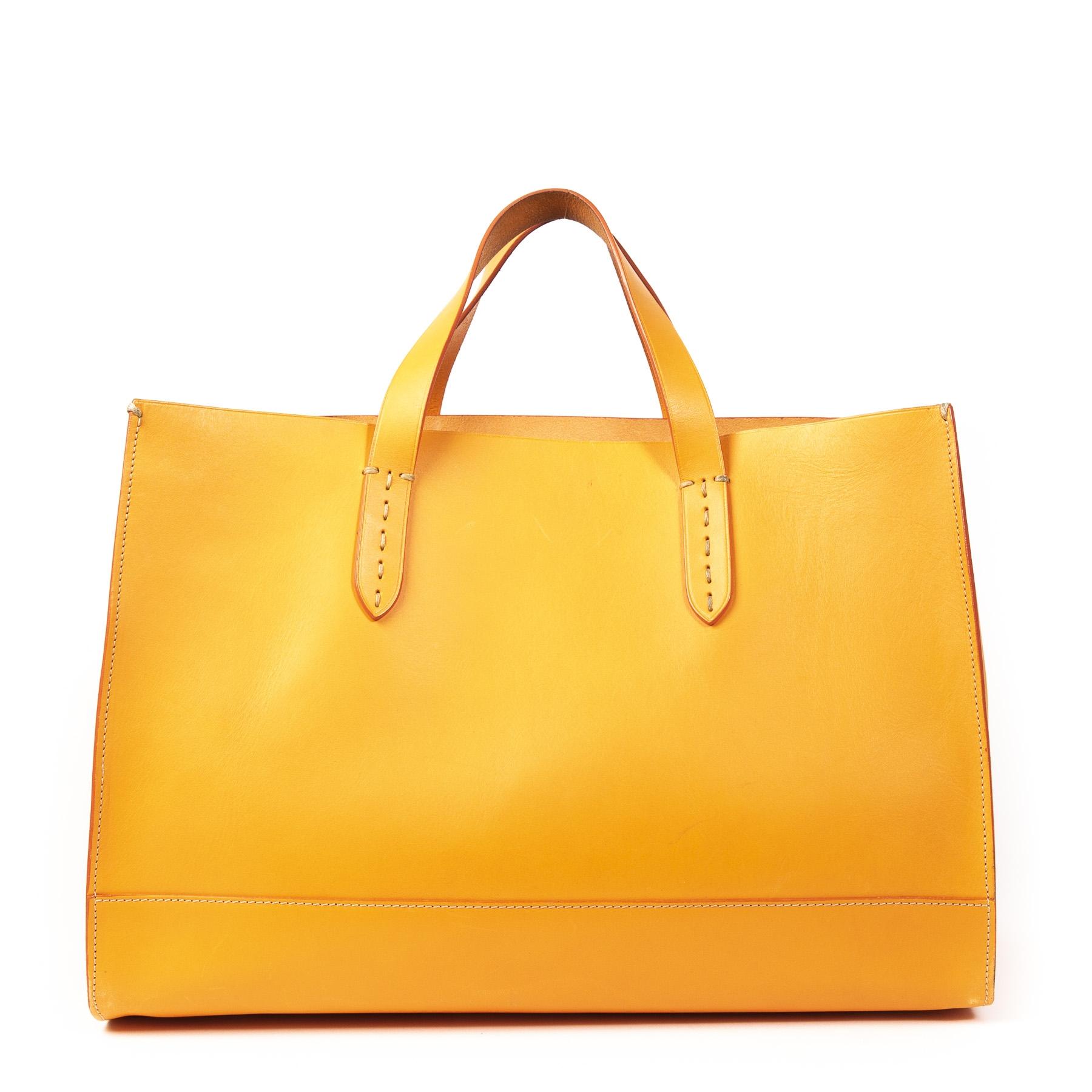 Authentieke Tweedehands Ralph Lauren Orange Tote Bag juiste prijs online shoppen webshop luxe merken winkelen Antwerpen België