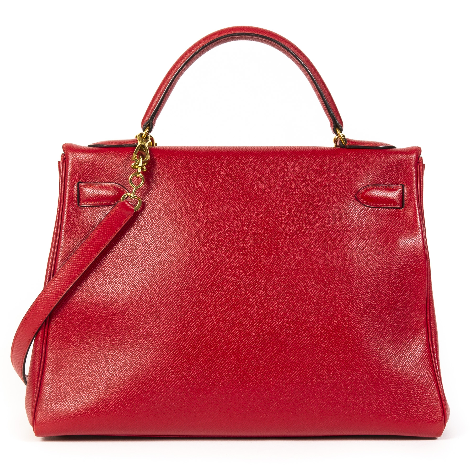 We buy and sell your authentic Hermès Kelly 28 Red Epsom GHW