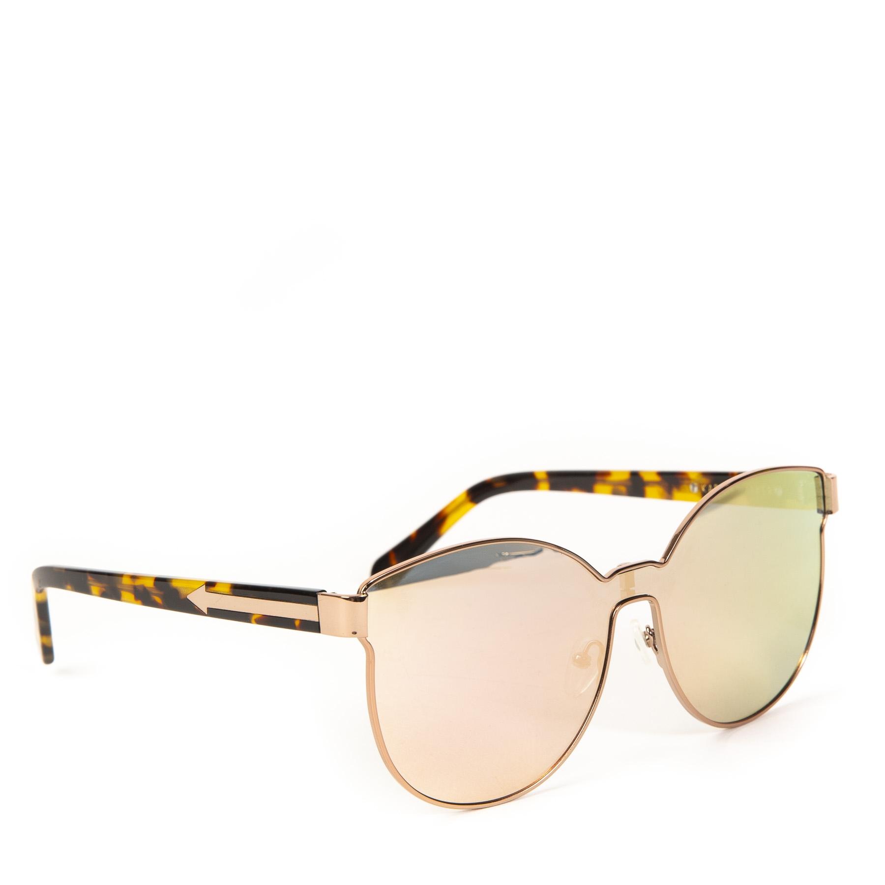 Authentieke Tweedehands Karen Walker Rose Gold Tortoise Cosmonaut Sunglasses juiste prijs veilig online shoppen webshop luxe merken winkelen Antwerpen België