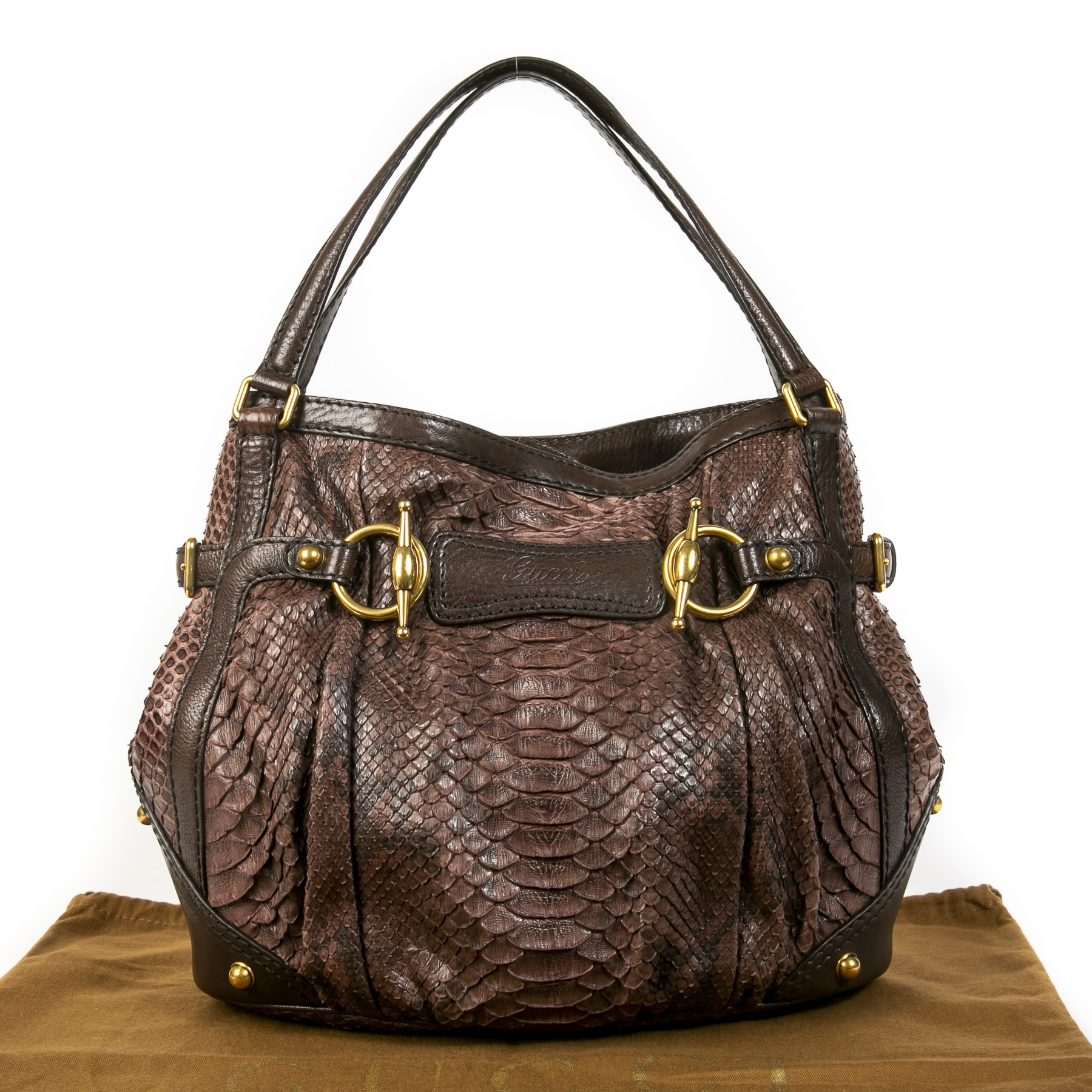 Gucci Python Jockey Hobo Bag for the best price at Labellov secondhand luxury