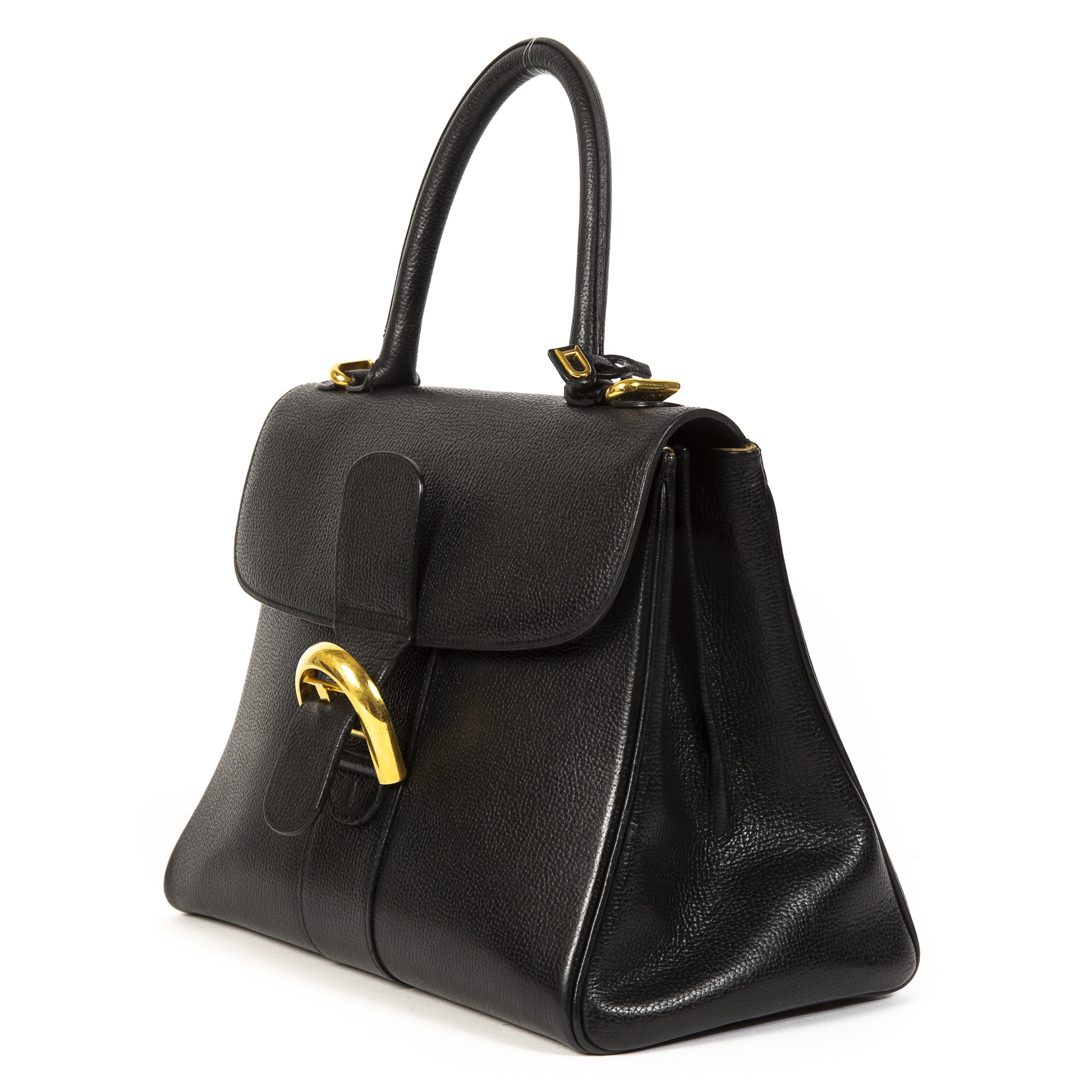 shop safe online secondhand Delvaux Black Brillant MM GHW
