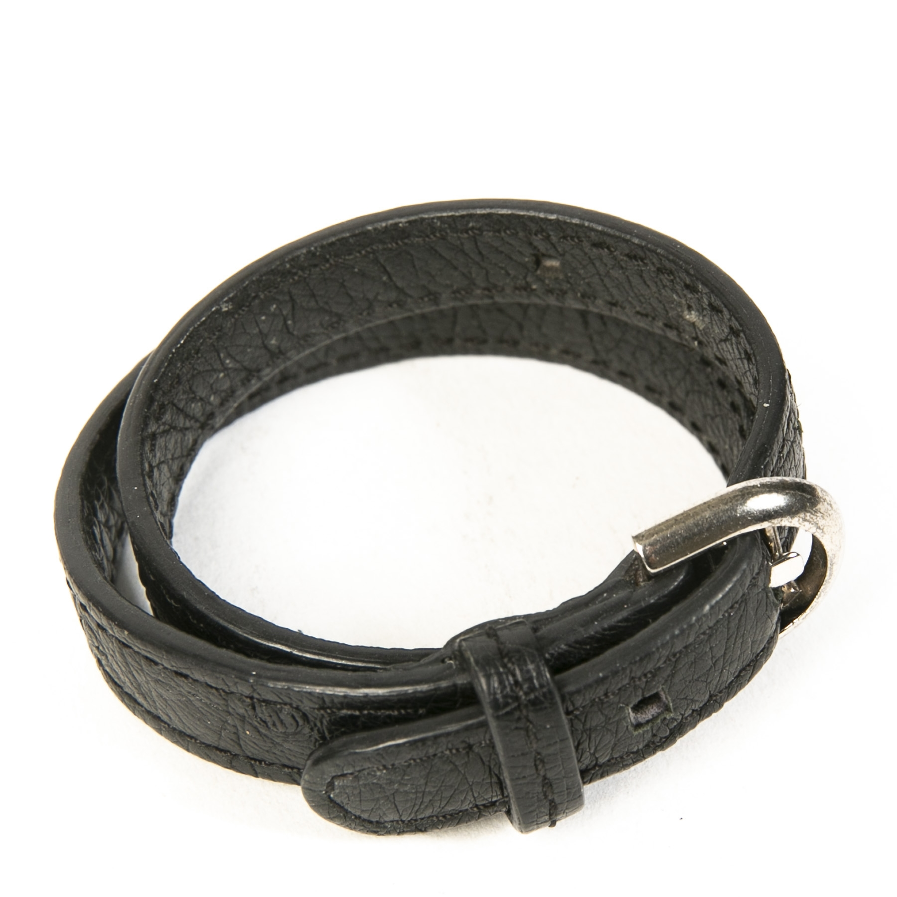 Delvaux Black Leather Bracelet