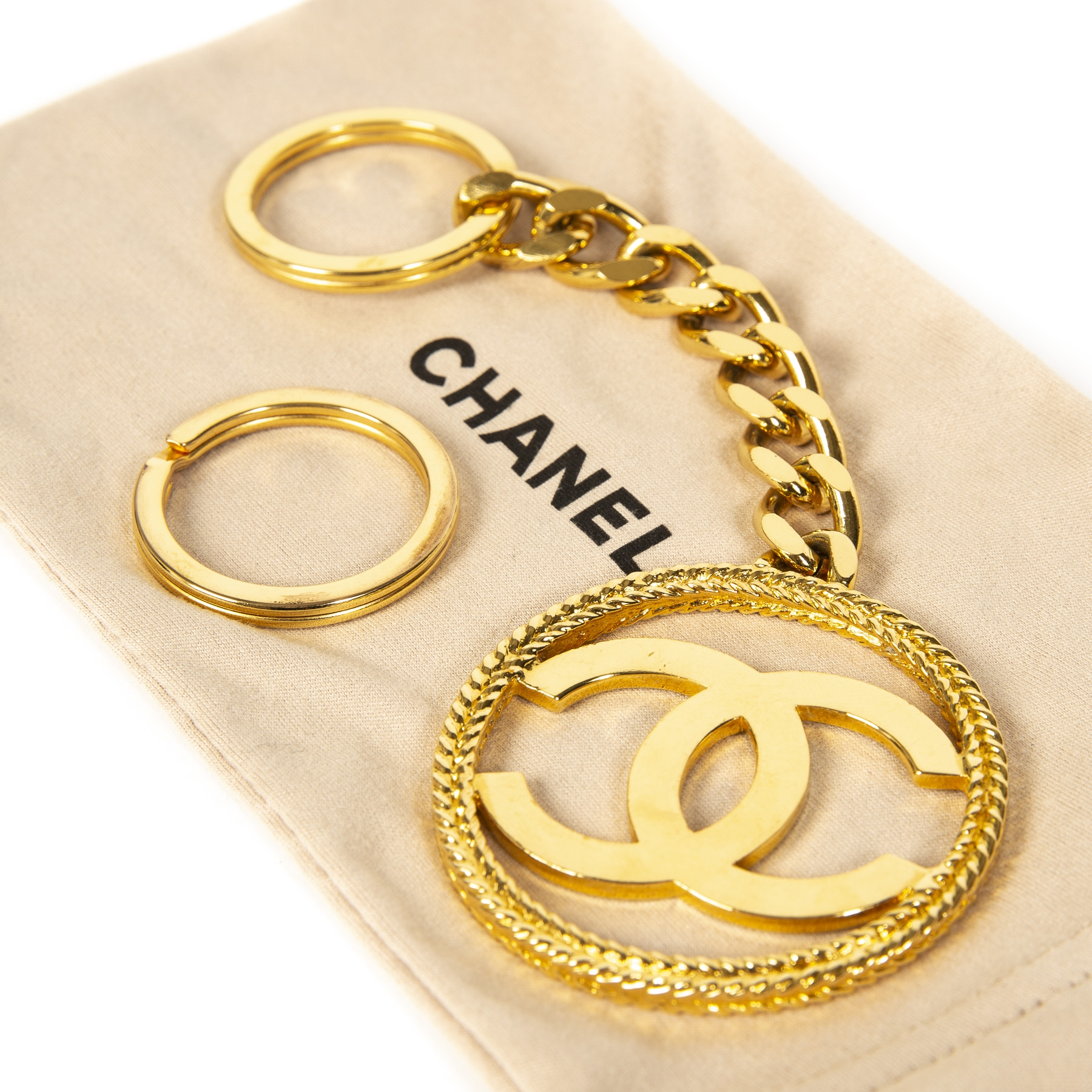 Chanel CC Golden Keychain