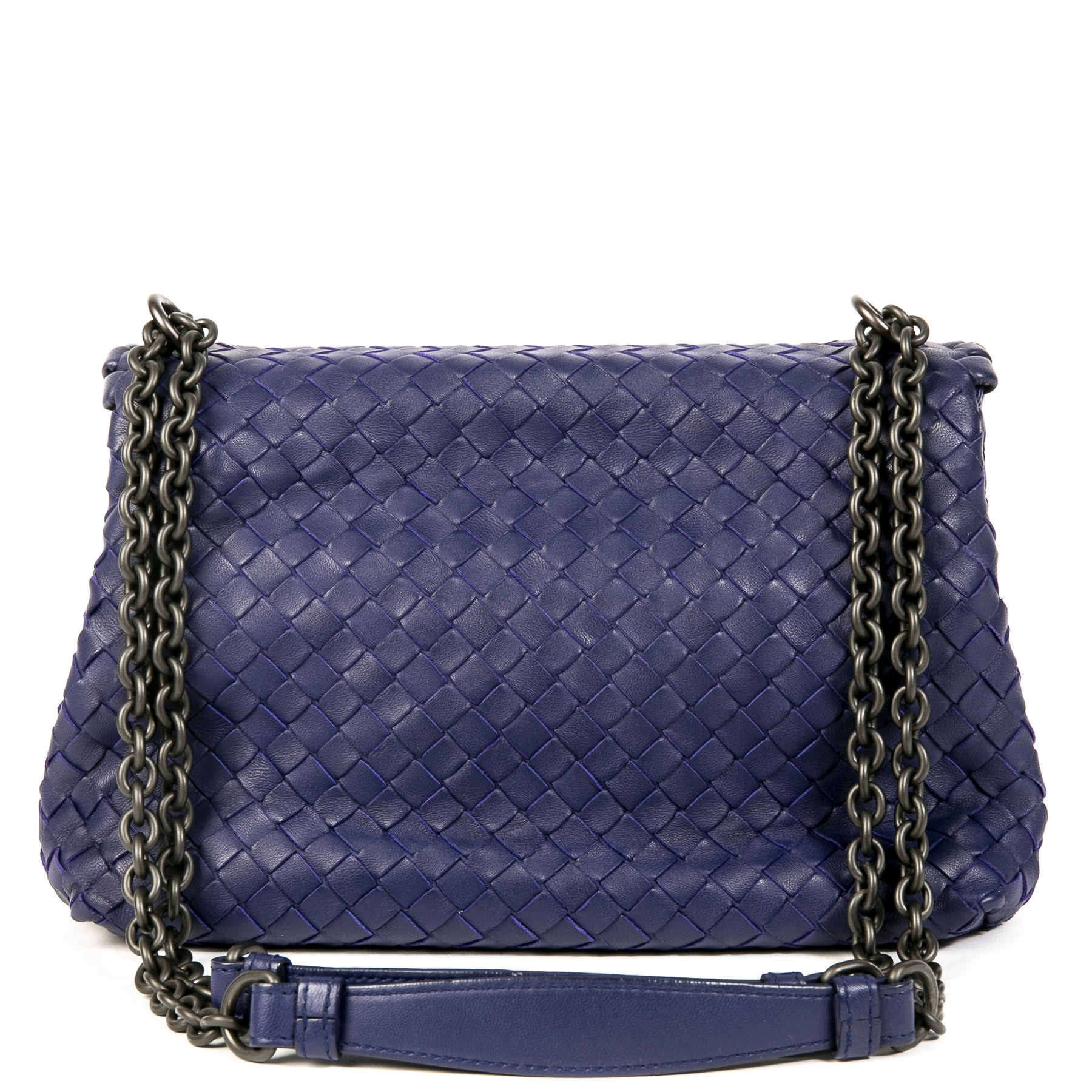 Bottega Veneta Olimpia Royal Blue Shoulder Bag