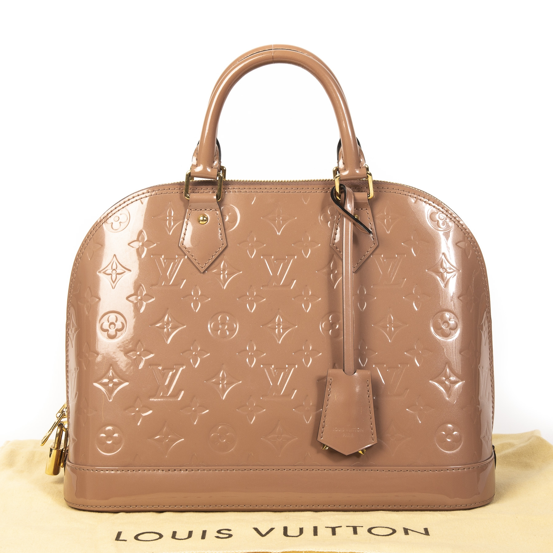 Louis Vuitton Alma Vernis Vieux Rose PM