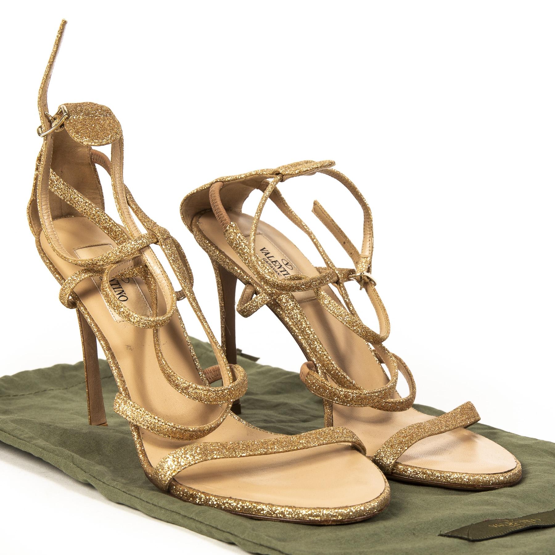 Valentino Glitter Sandal Pumps - size 37