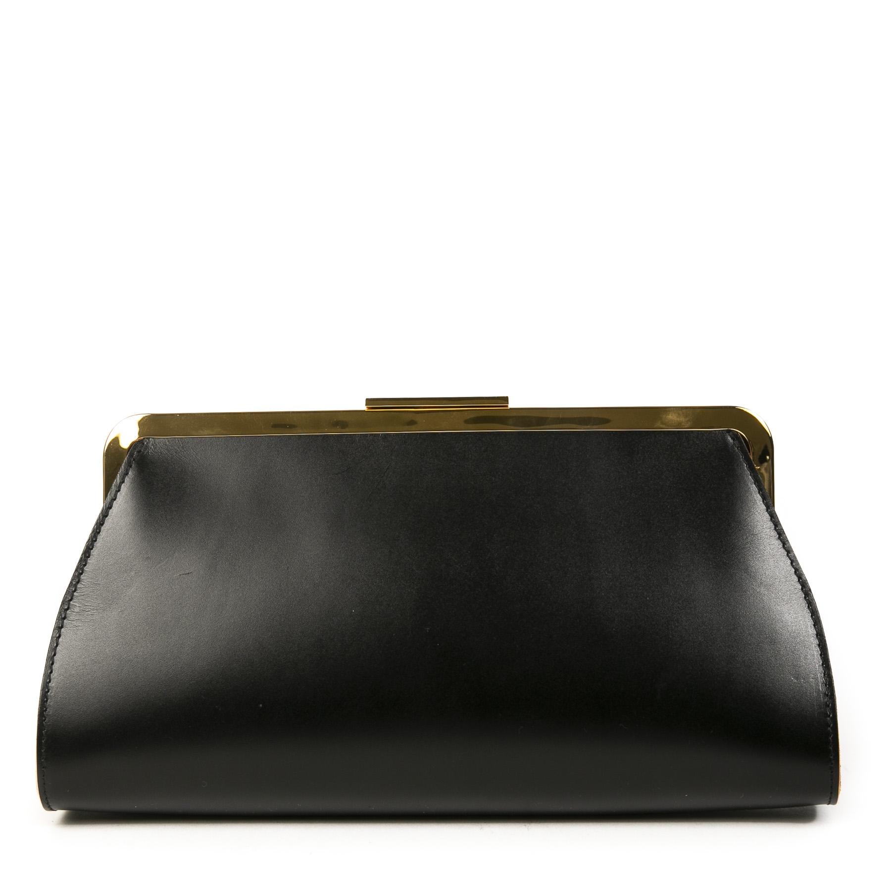 Authentieke Tweedehands Marni Black Studs and Crystals Leather Clutch juiste prijs veilig online shoppen luxe merken webshop winkelen Antwerpen België mode fashion