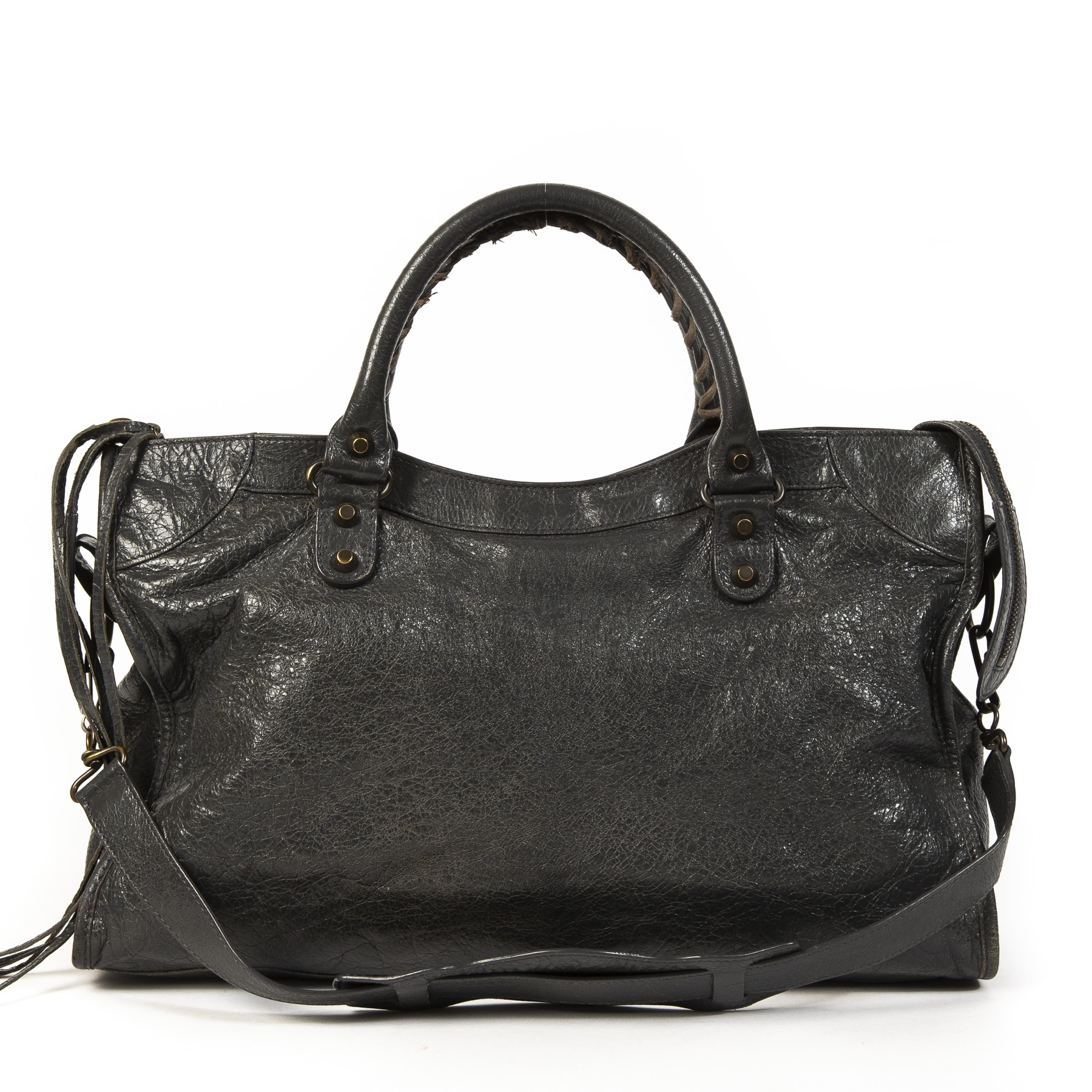 Balenciaga Anthracite Grey City Bag RHW te koop online bij Labellov tweedehands luxe