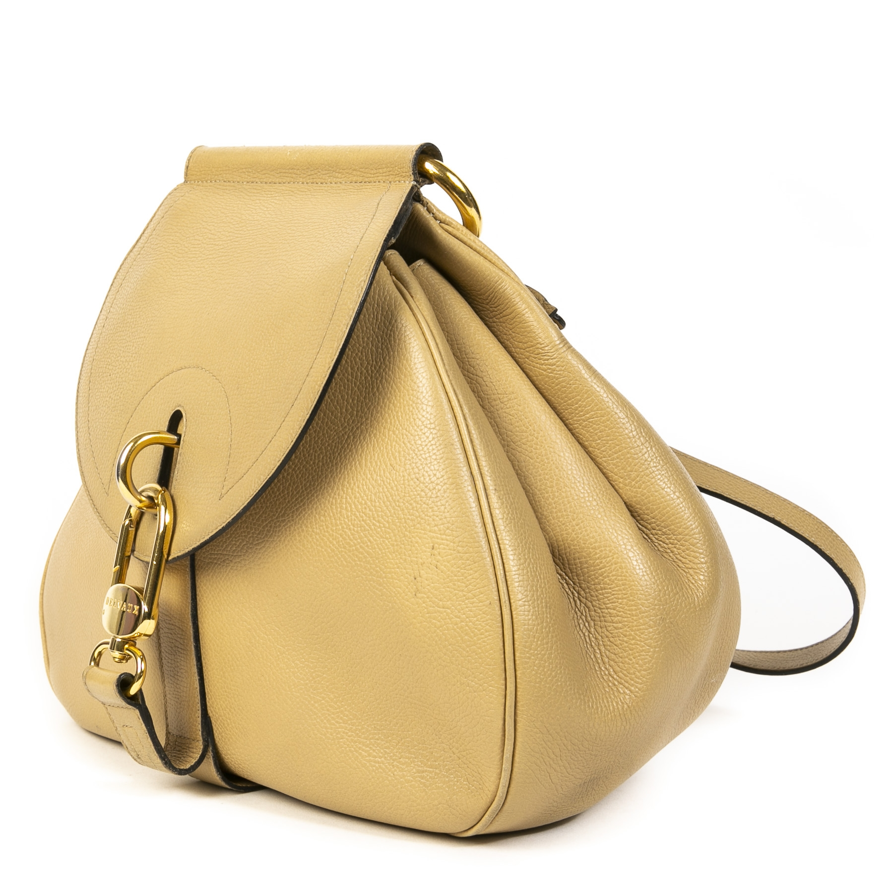 Delvaux Sand Cerceau Shoulder Bag